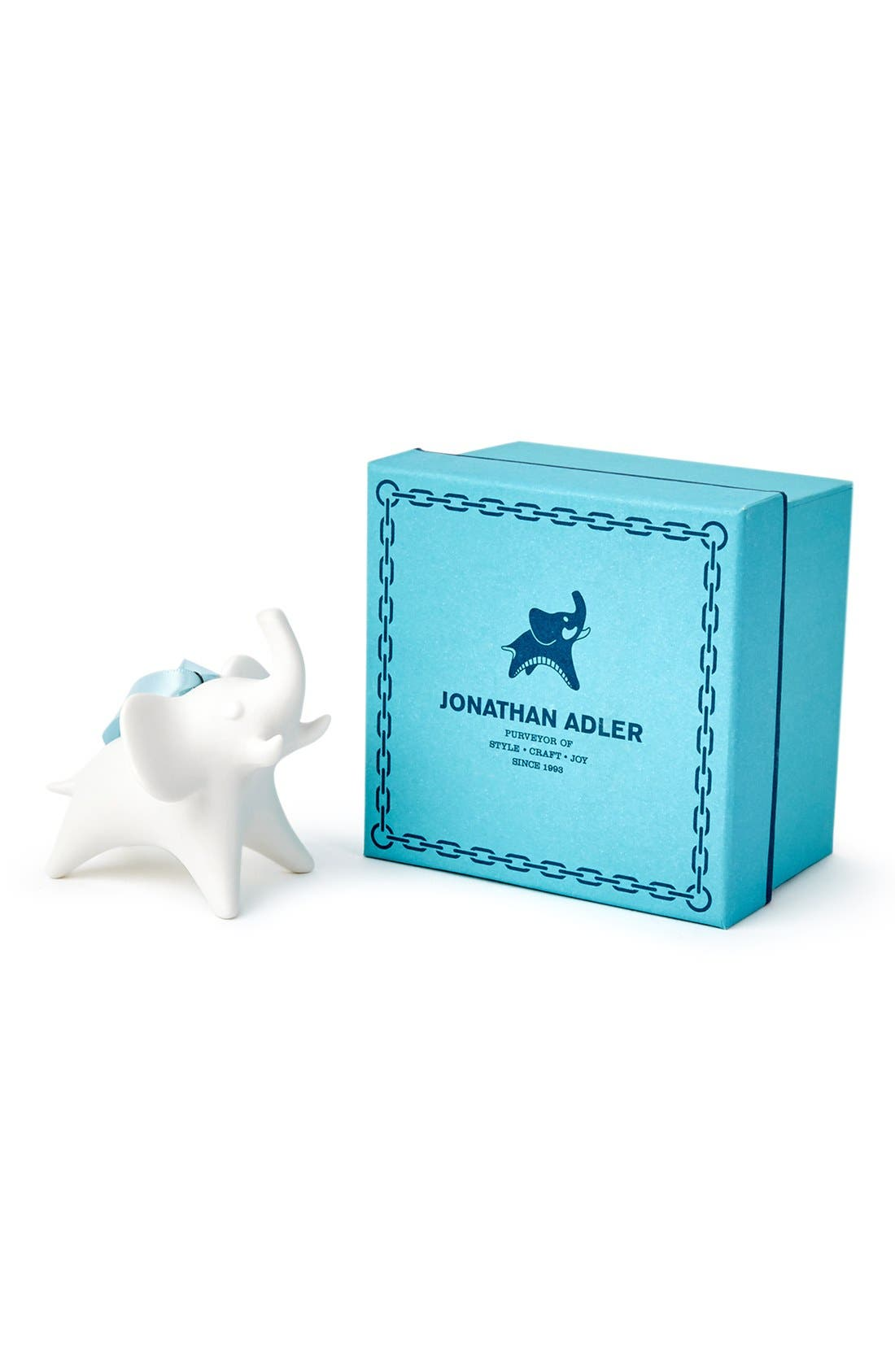 Porcelain Elephant Ornament,                             Alternate thumbnail 2, color,                             100