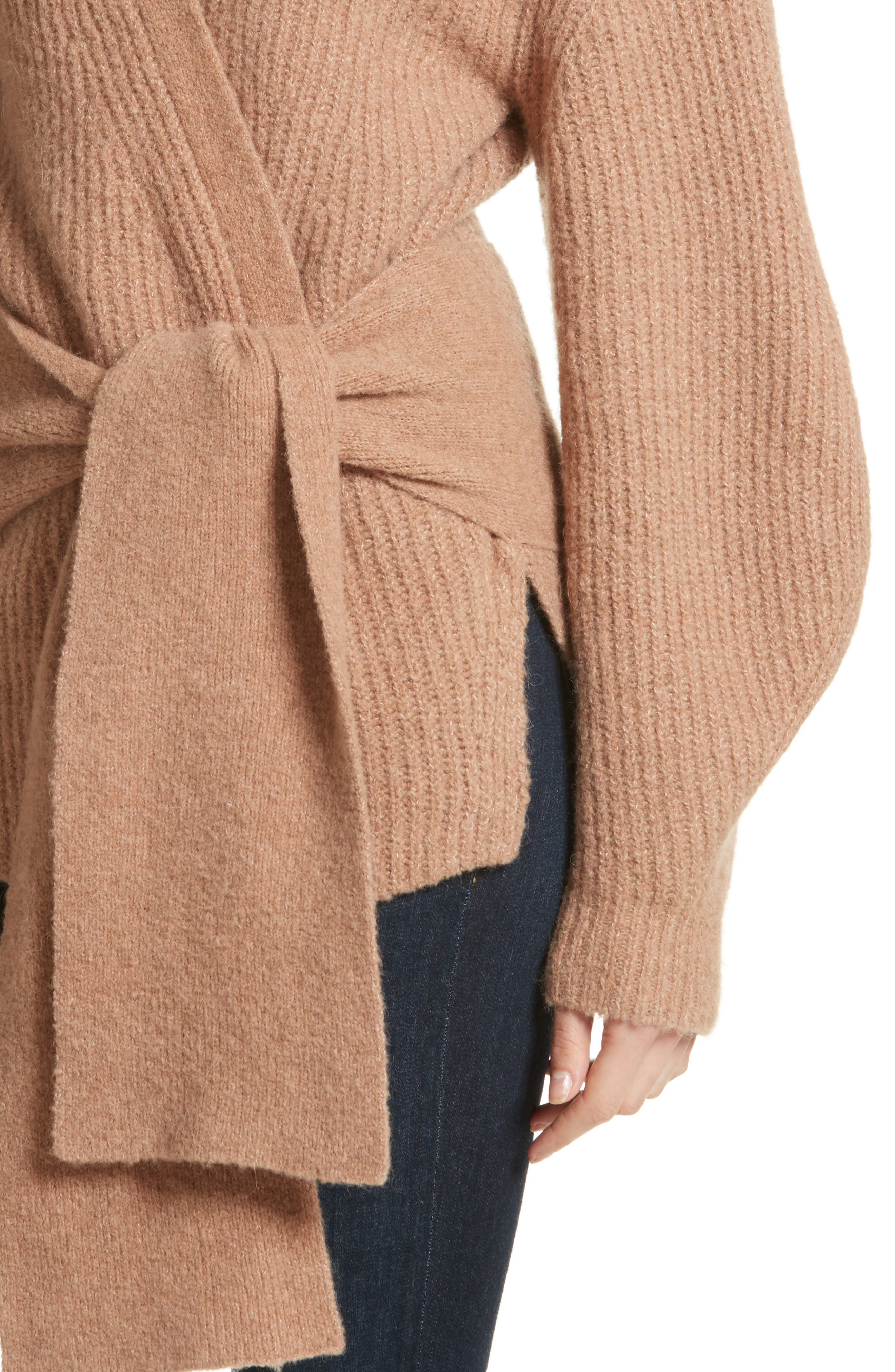 Hansen Belted Cardigan,                             Alternate thumbnail 4, color,                             020
