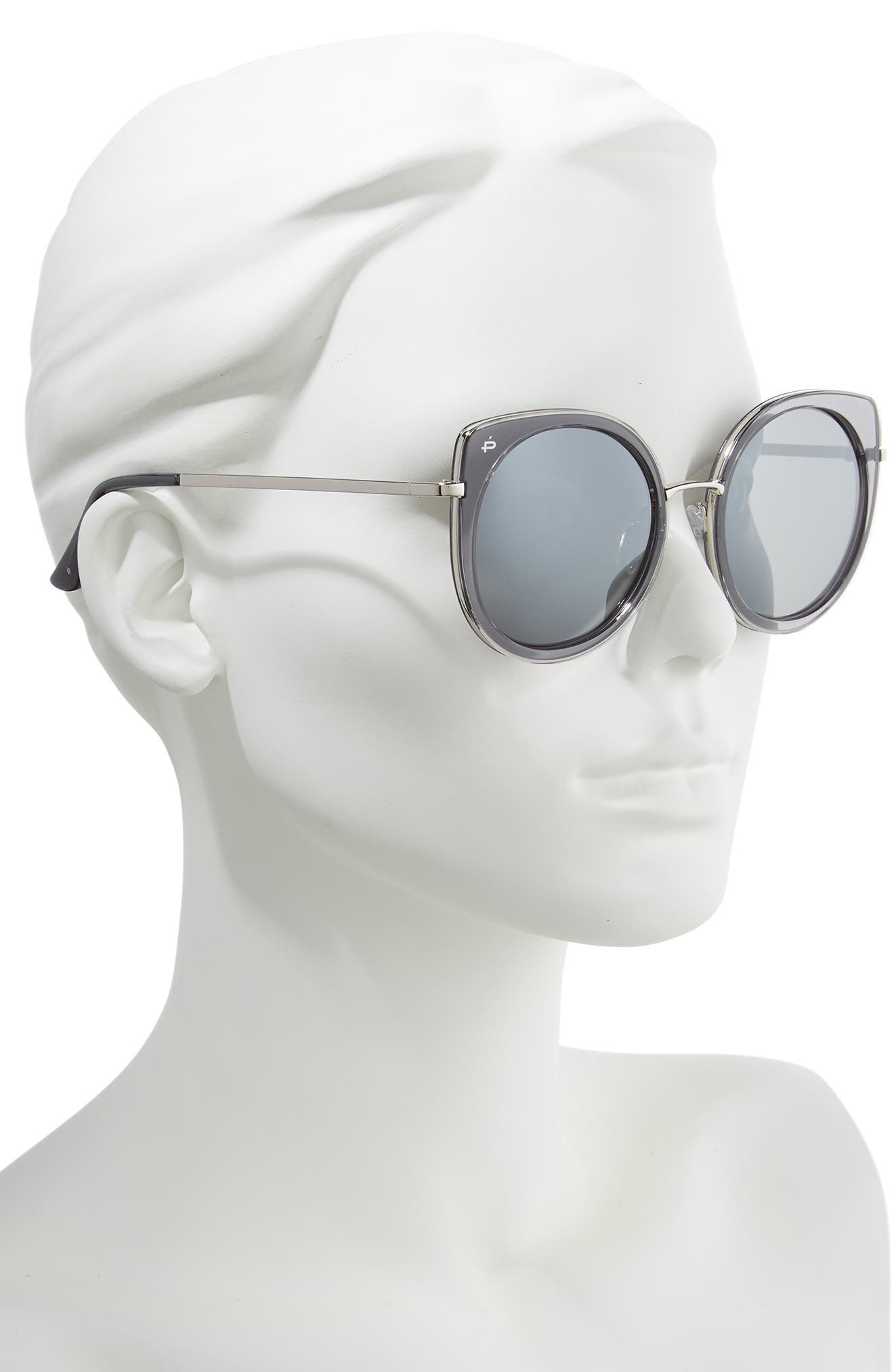 Privé Revaux The Georgian 53mm Sunglasses,                             Alternate thumbnail 2, color,                             CRYSTAL SMOKE