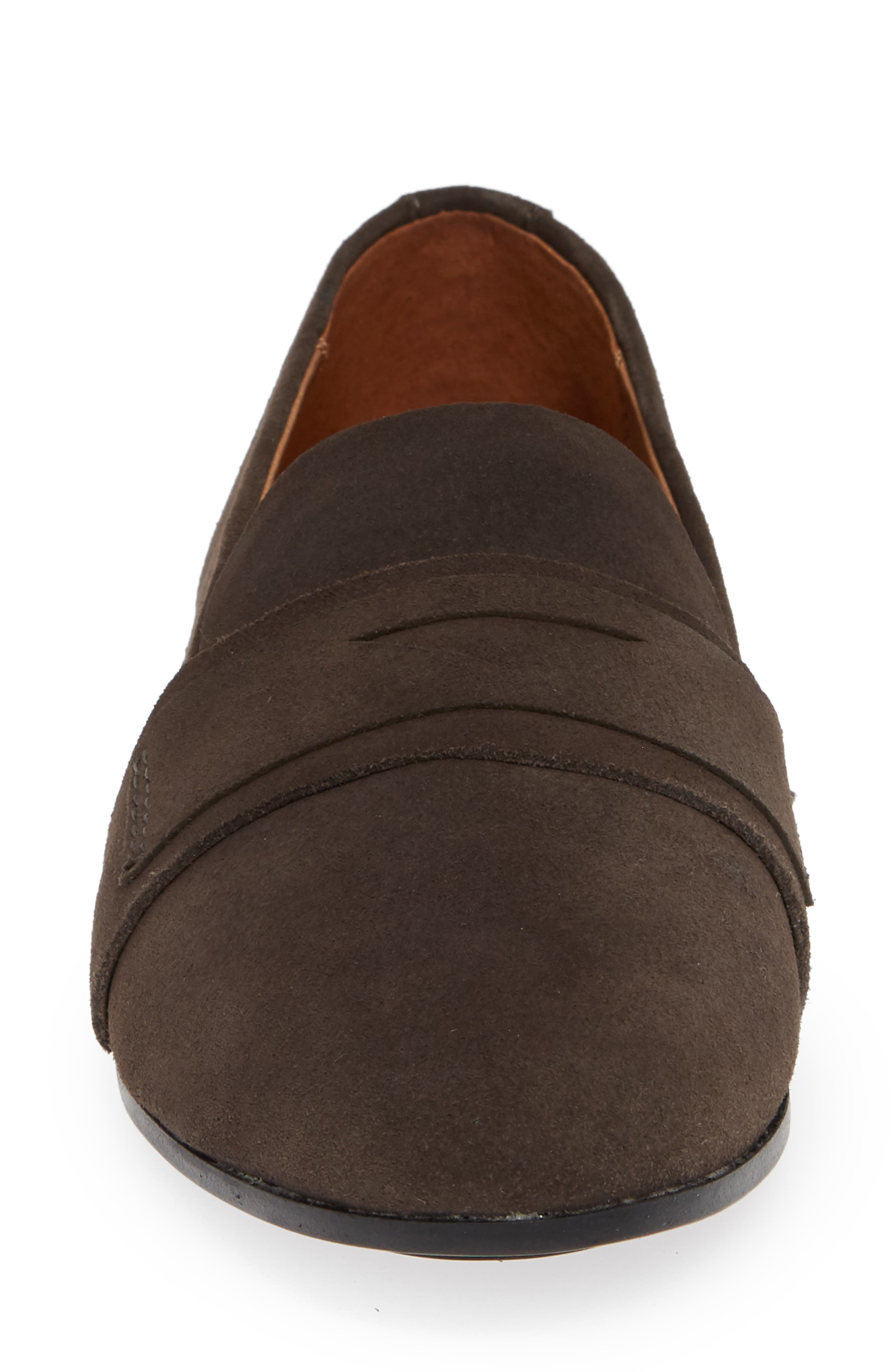 Terri Penny Loafer,                             Alternate thumbnail 4, color,                             CHARCOAL SUEDE