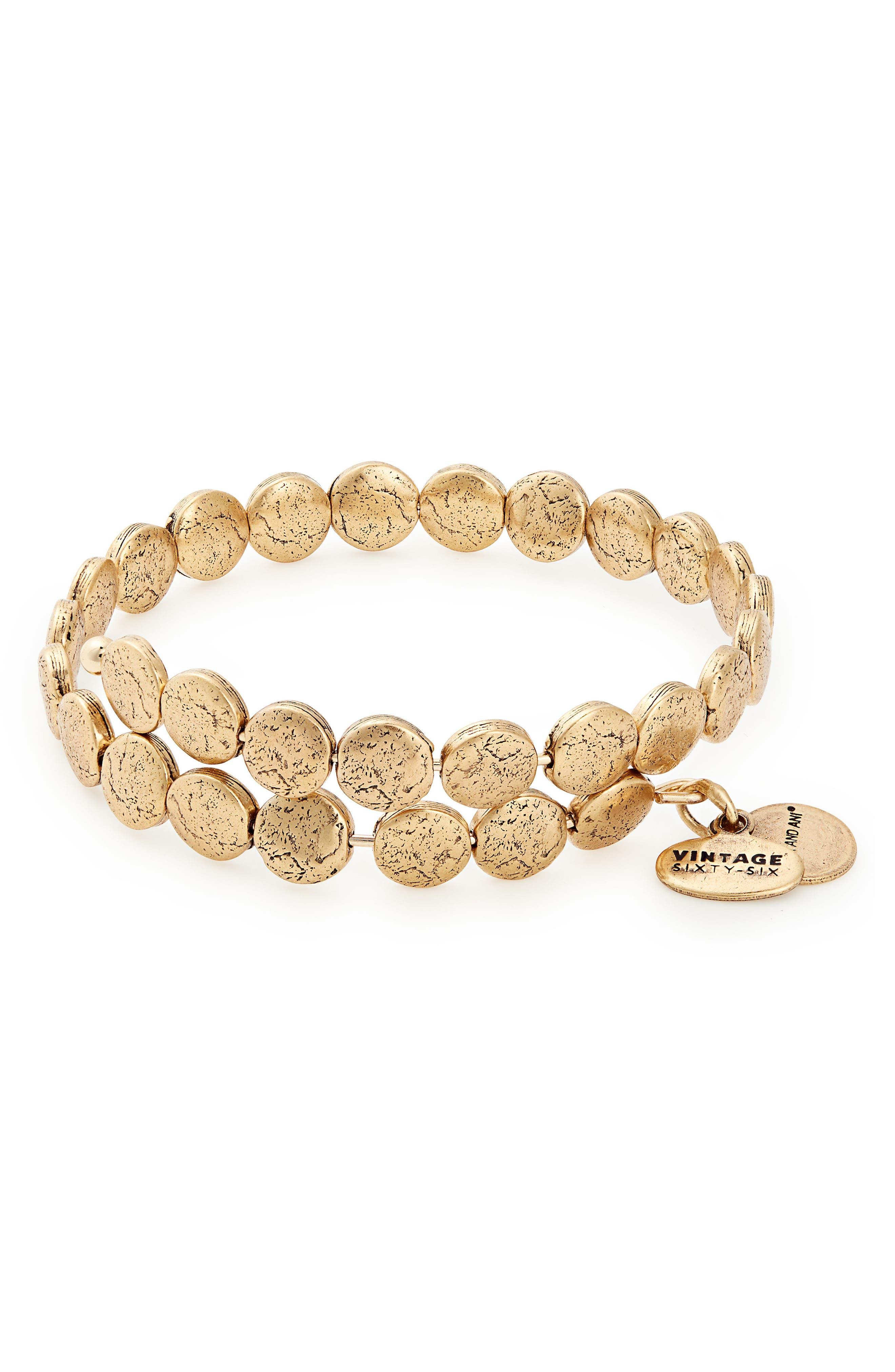 Coin Wrap Bracelet,                             Main thumbnail 1, color,                             710