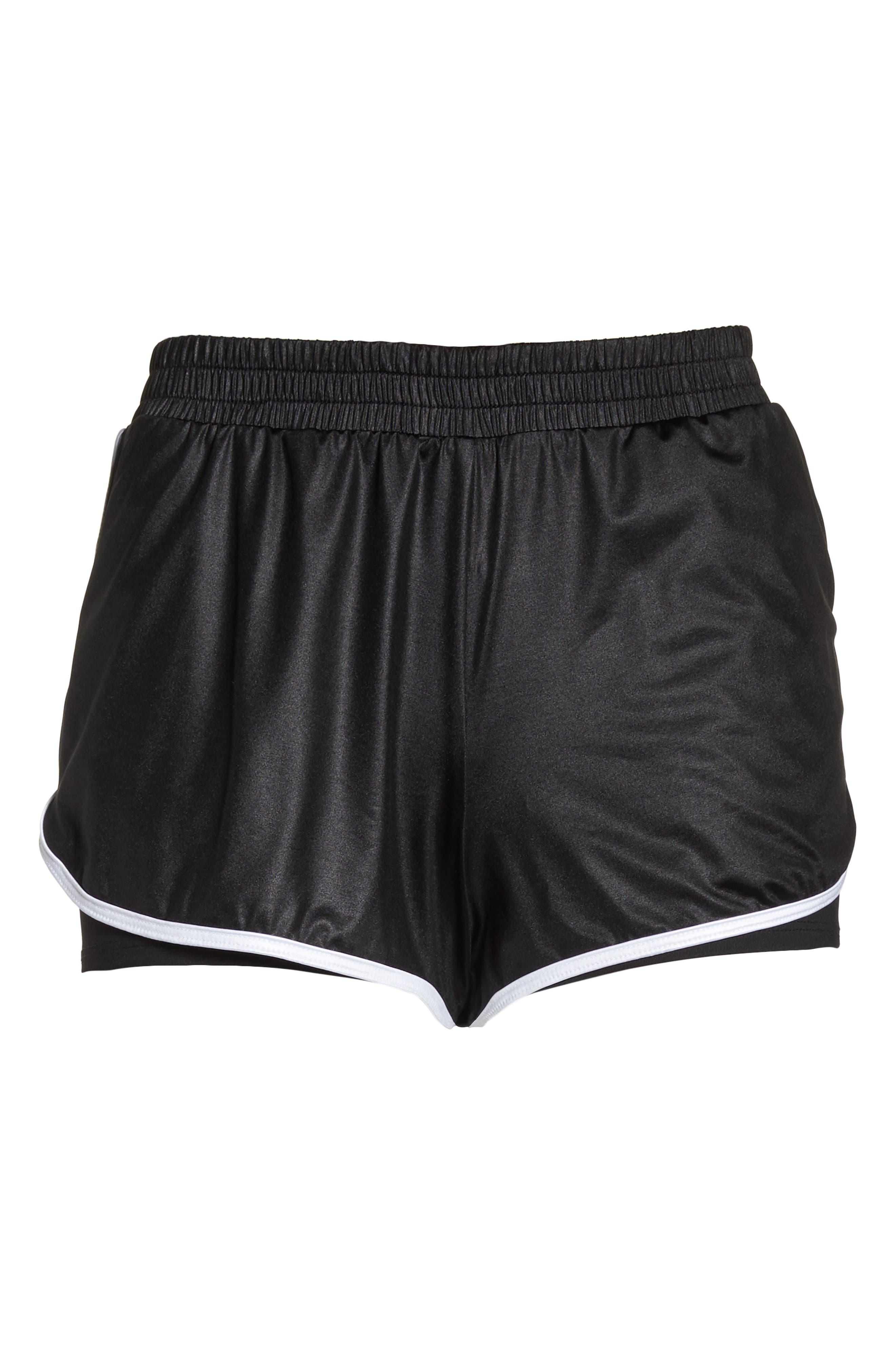 Scout Gym Shorts,                             Alternate thumbnail 7, color,                             BLACK/ WHITE