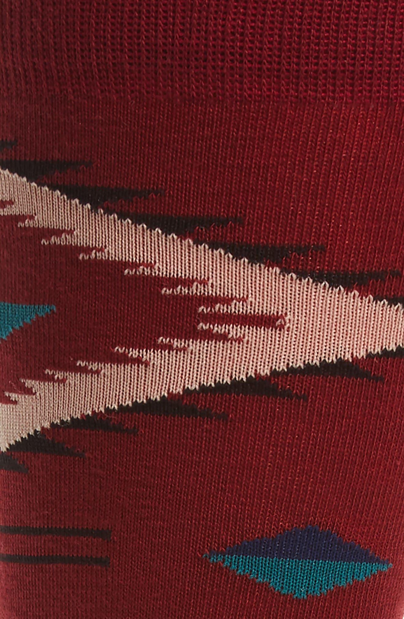 Burke Crew Socks,                             Alternate thumbnail 2, color,                             RED