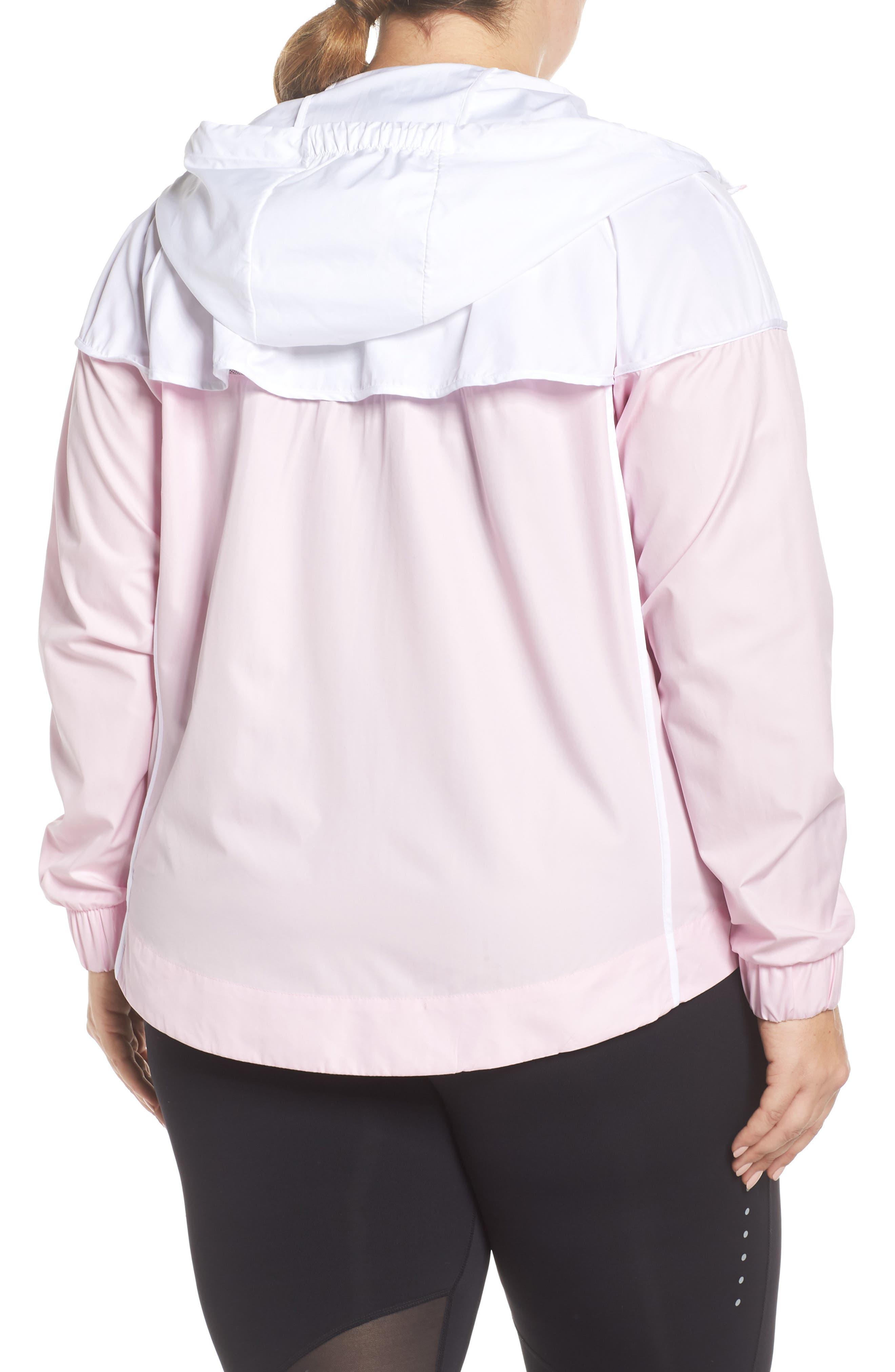NIKE,                             Sportswear Windrunner Jacket,                             Alternate thumbnail 2, color,                             PINK FOAM/ WHITE/ PINK FOAM