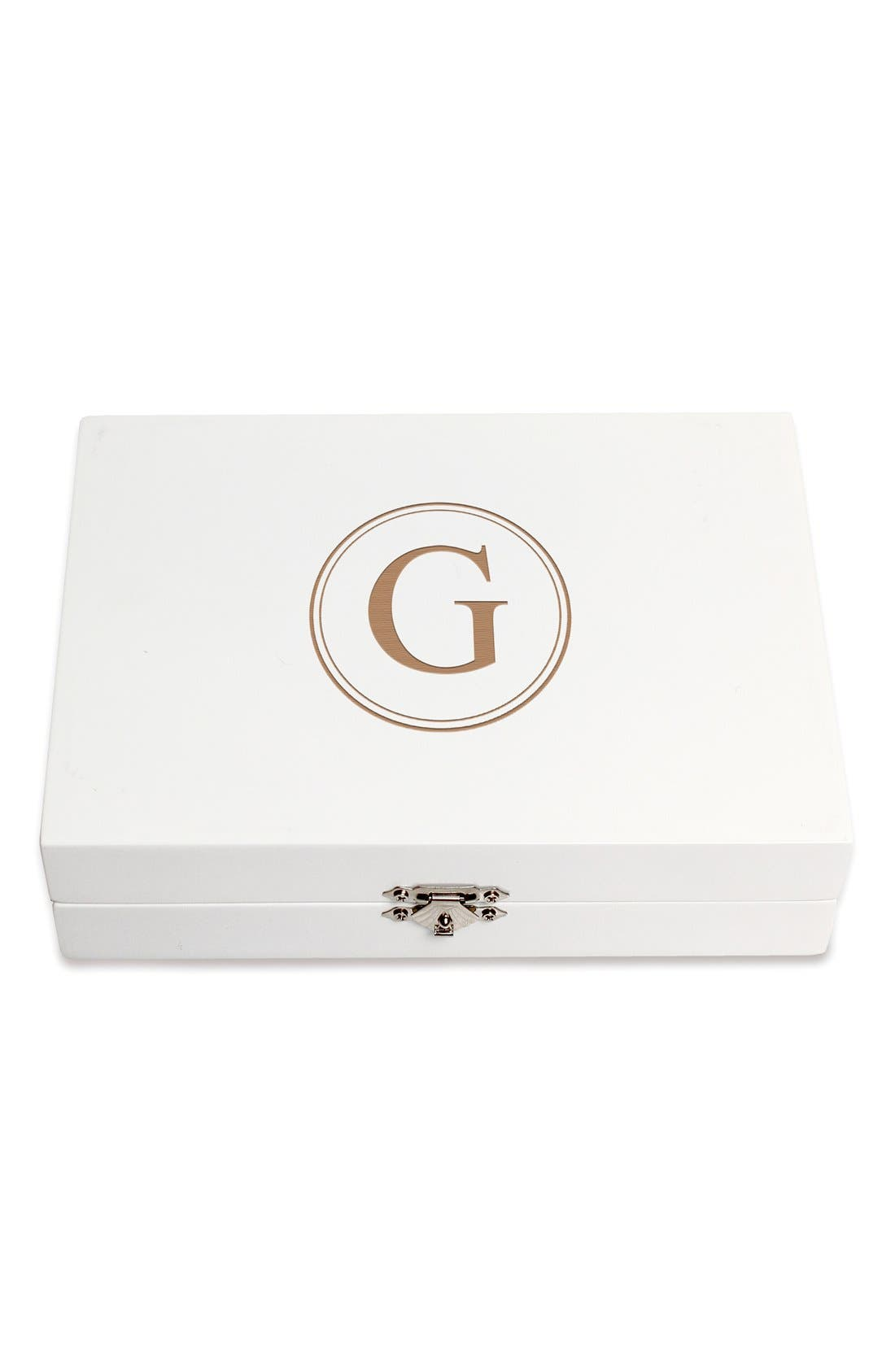 Monogram Wooden Jewelry Box,                             Main thumbnail 36, color,