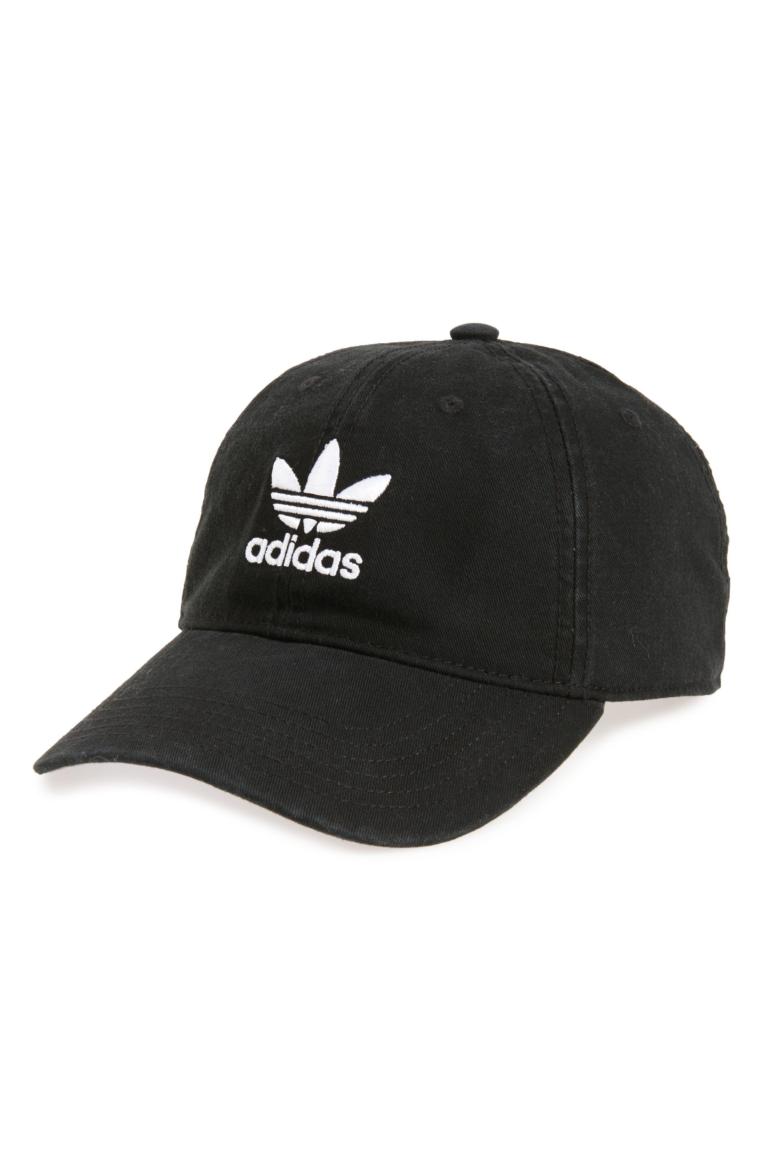 Relaxed Baseball Cap,                         Main,                         color, BLACK/ WHITE