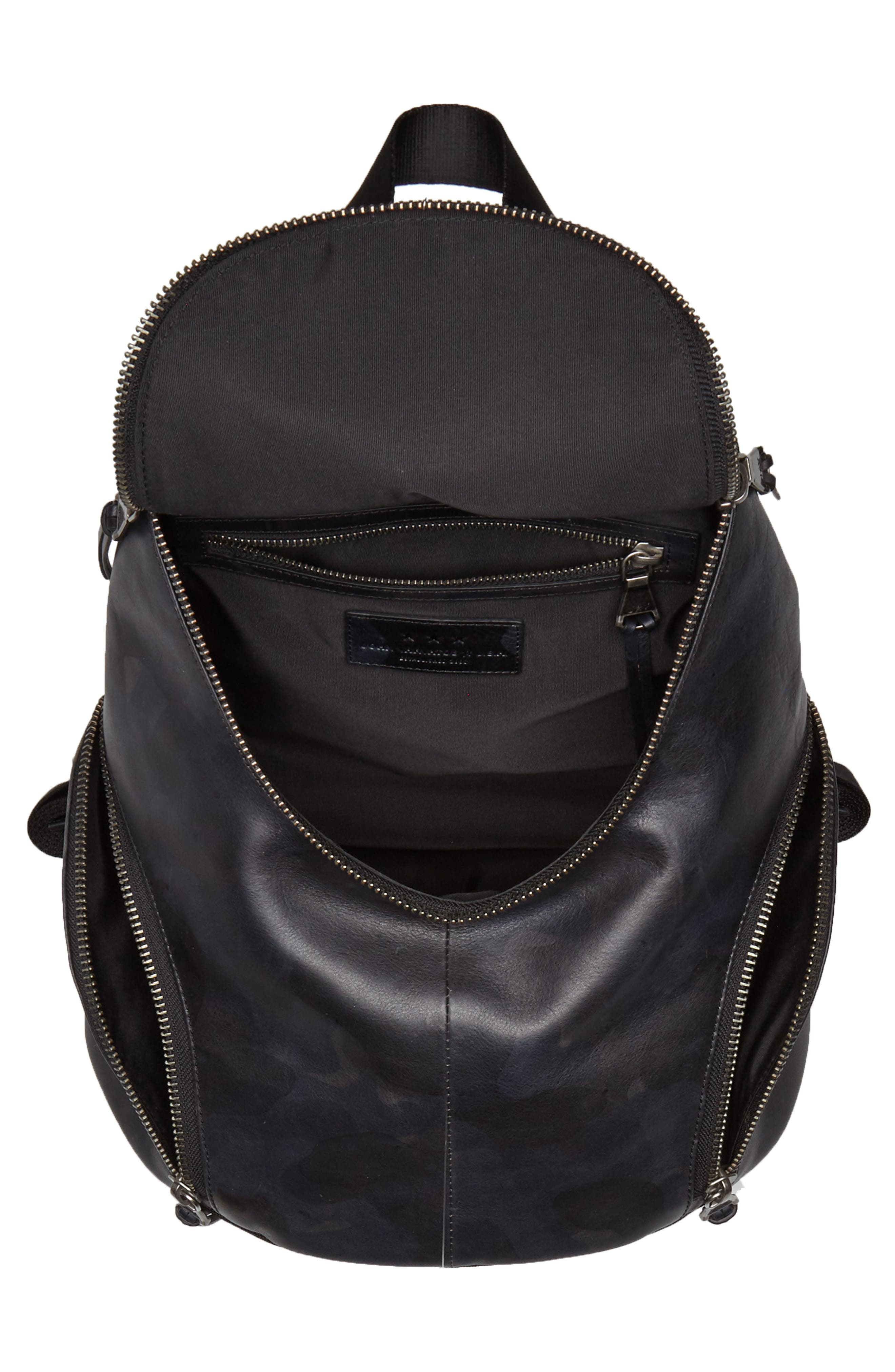 Brooklyn Suede Backpack,                             Alternate thumbnail 4, color,                             MIDNIGHT