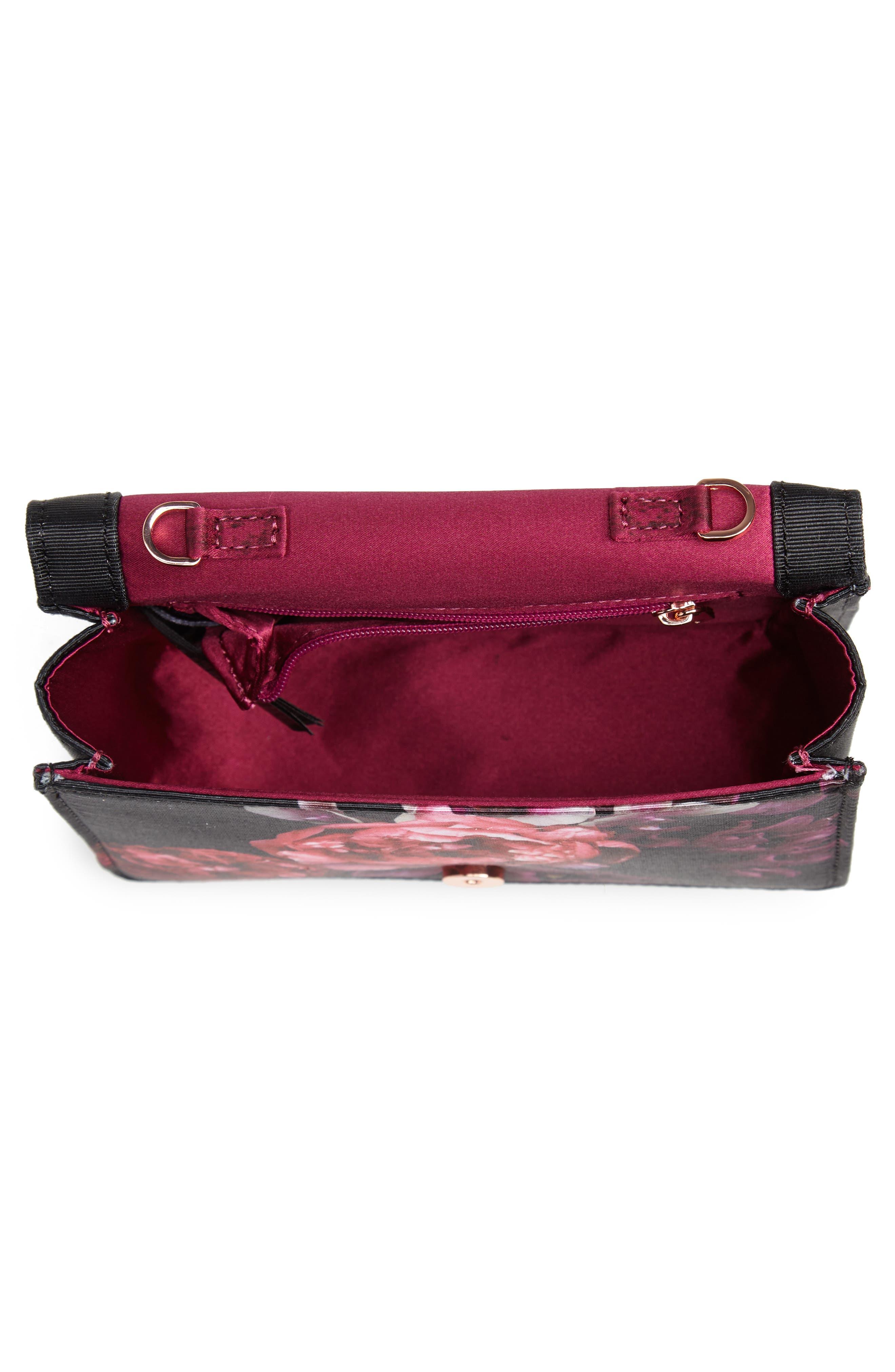 Splendour Mini Bow Evening Bag,                             Alternate thumbnail 4, color,                             001