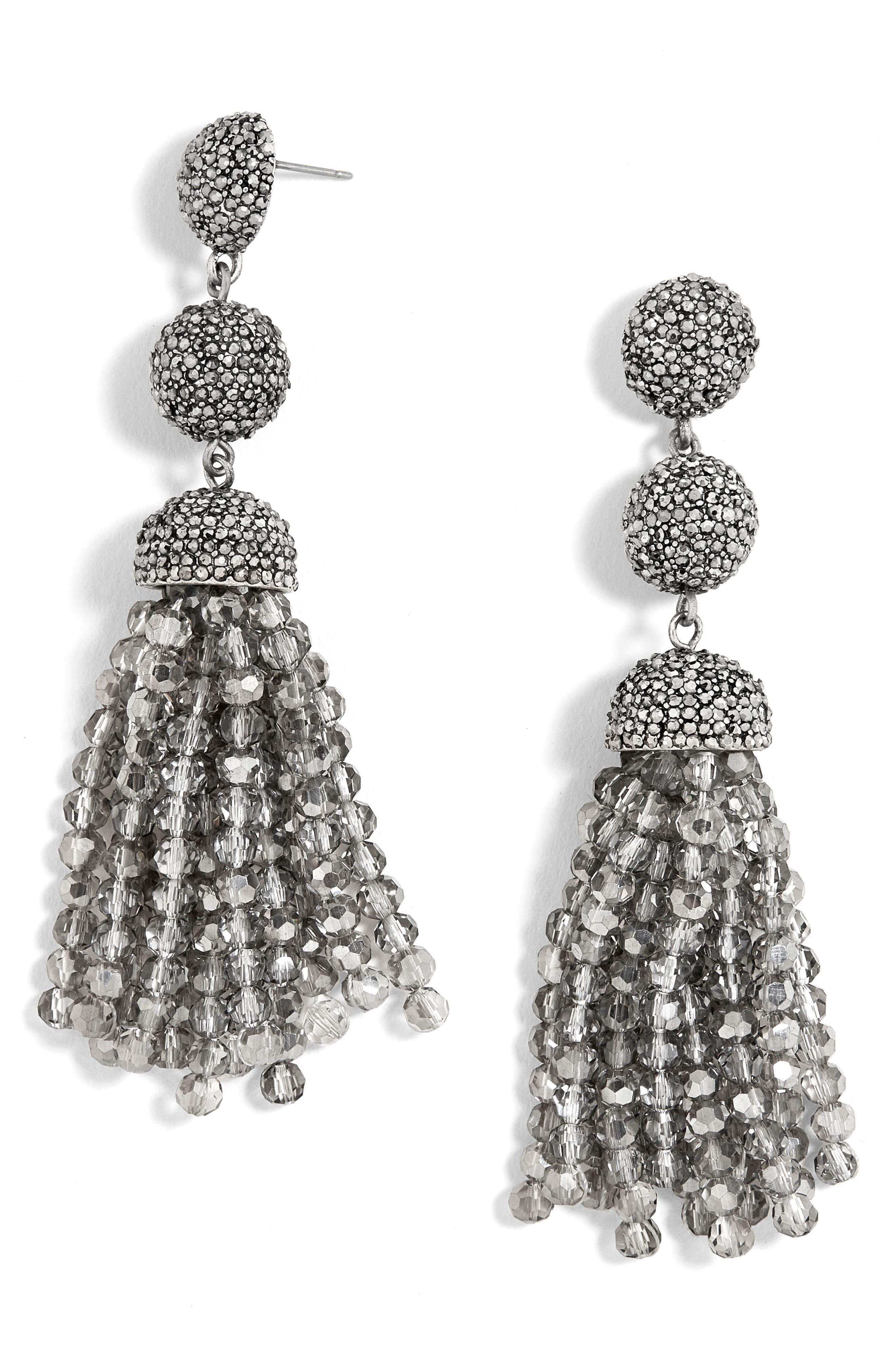 Tinsley Beaded Tassel Drop Earrings,                             Main thumbnail 2, color,