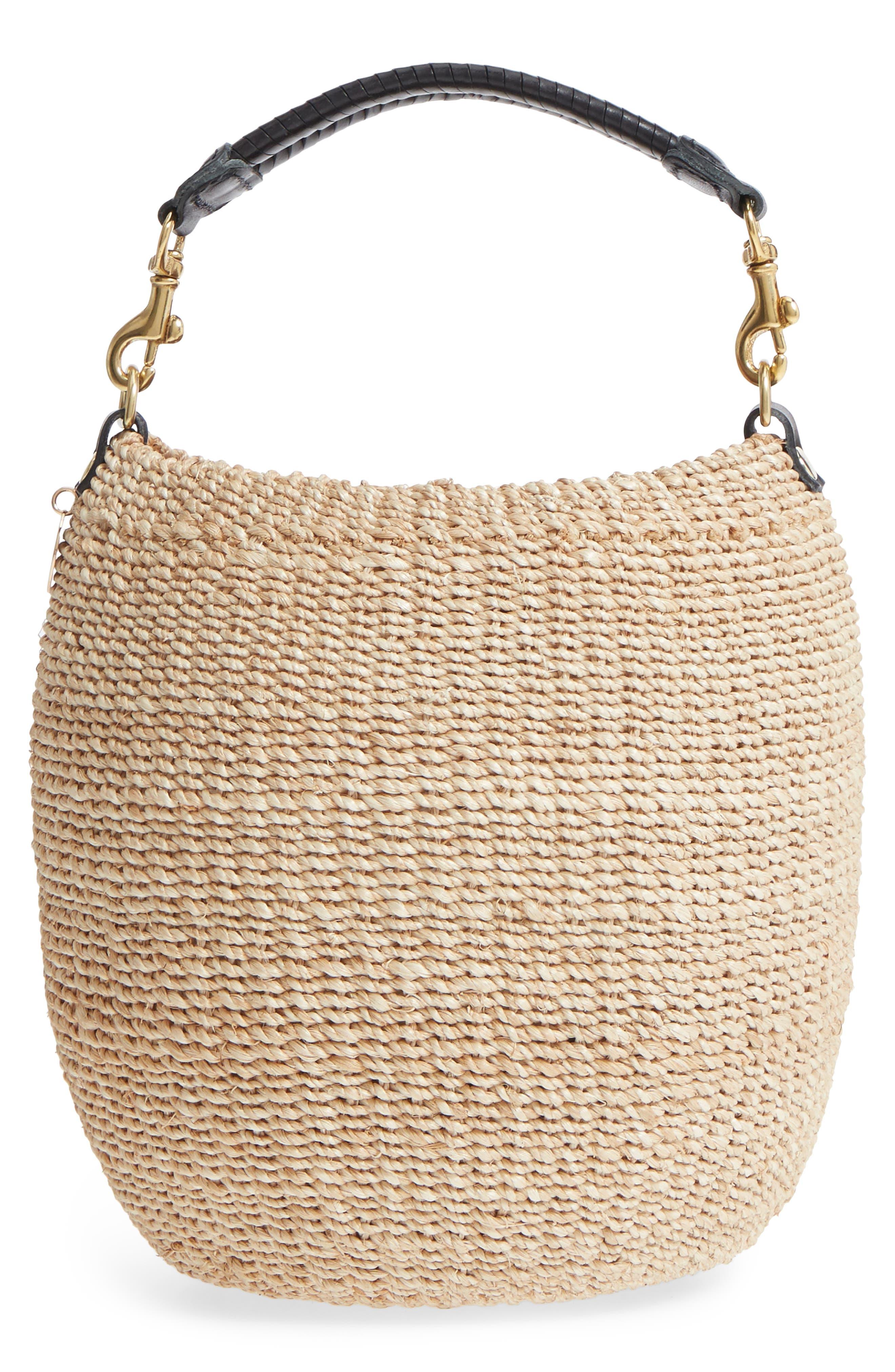 Pot de Miel Top Handle Straw Basket Bag,                             Alternate thumbnail 9, color,