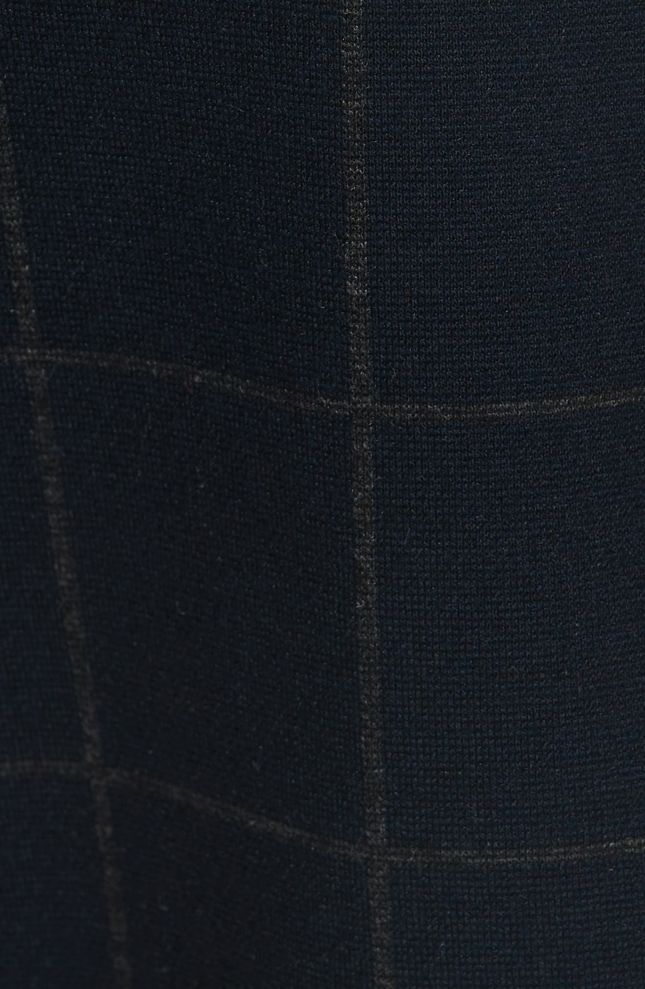Windowpane Knit A-Line Dress,                             Alternate thumbnail 5, color,                             DEEP NAVY/ CHARCOAL MELANGE