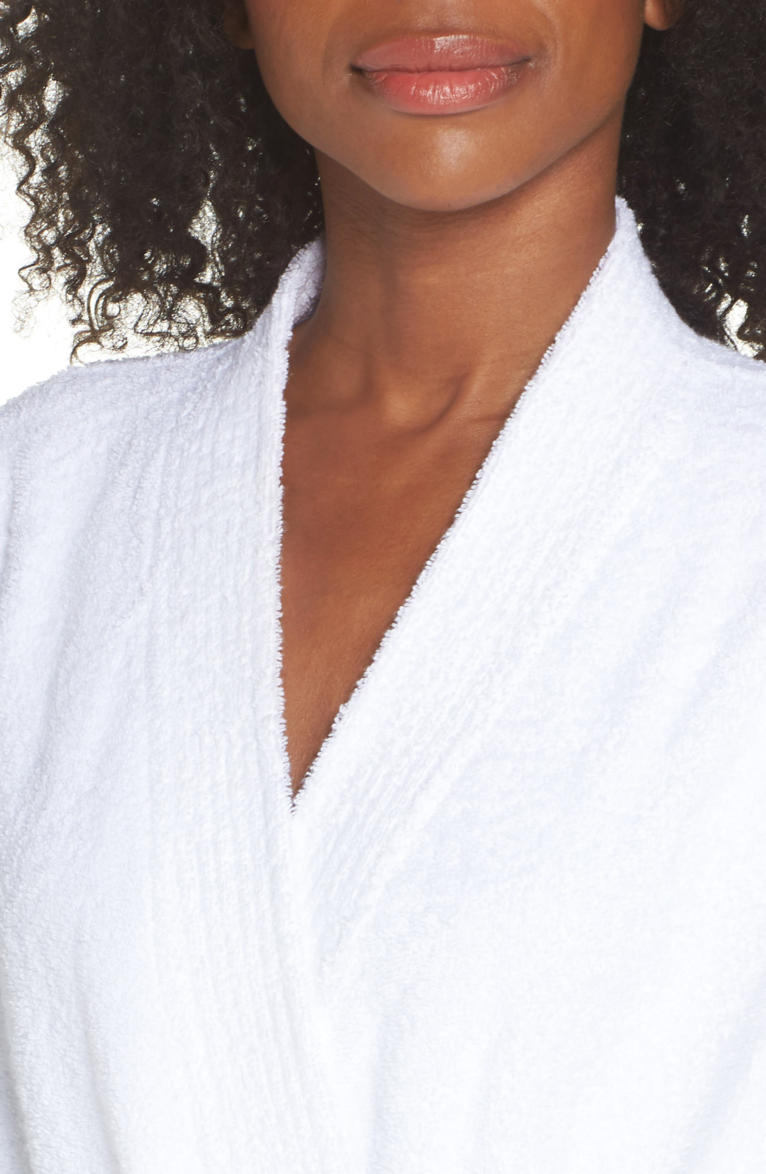 Lorie Terry Short Robe,                             Alternate thumbnail 4, color,                             WHITE