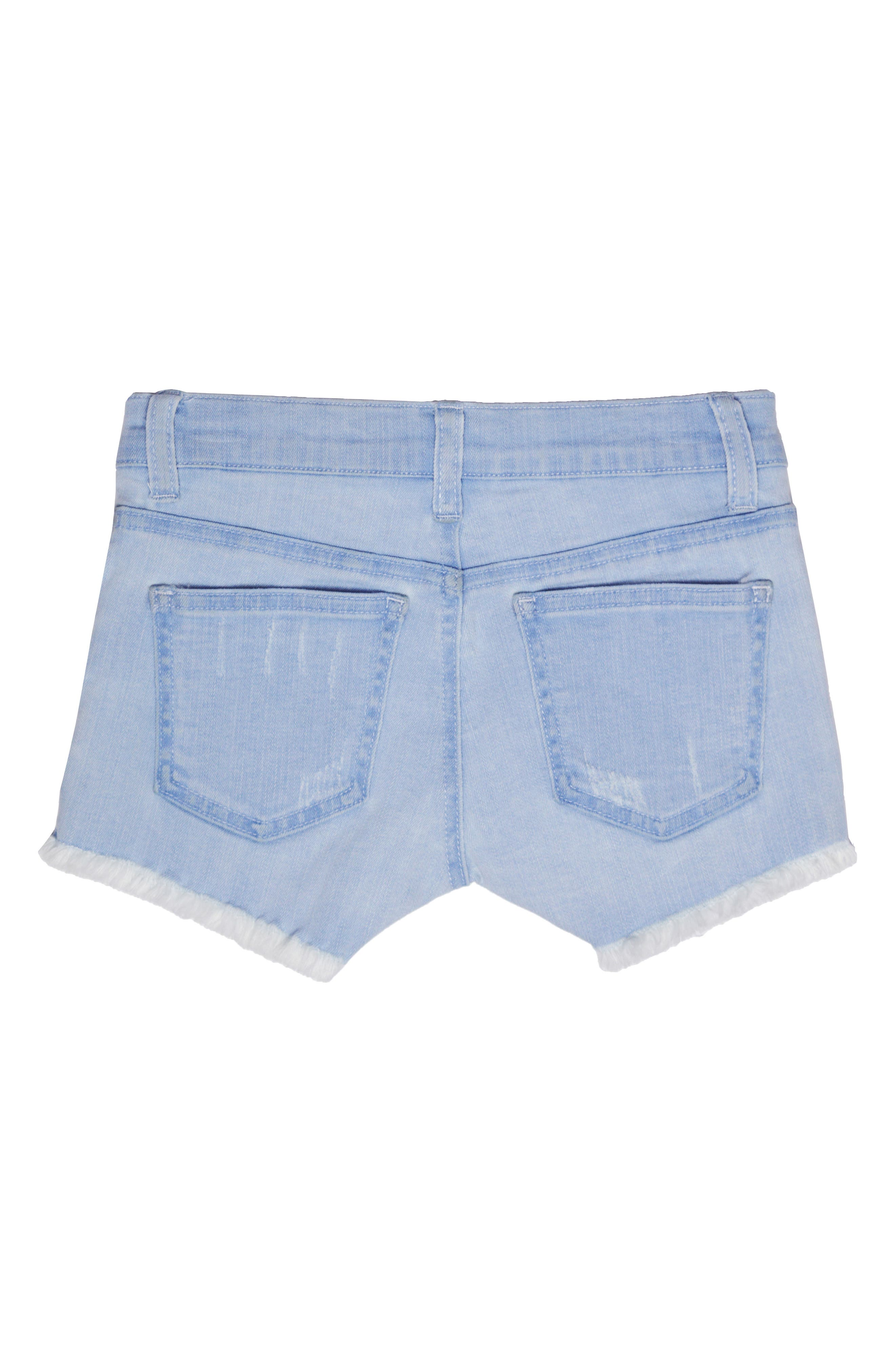 Distressed Cutoff Denim Shorts,                             Alternate thumbnail 2, color,