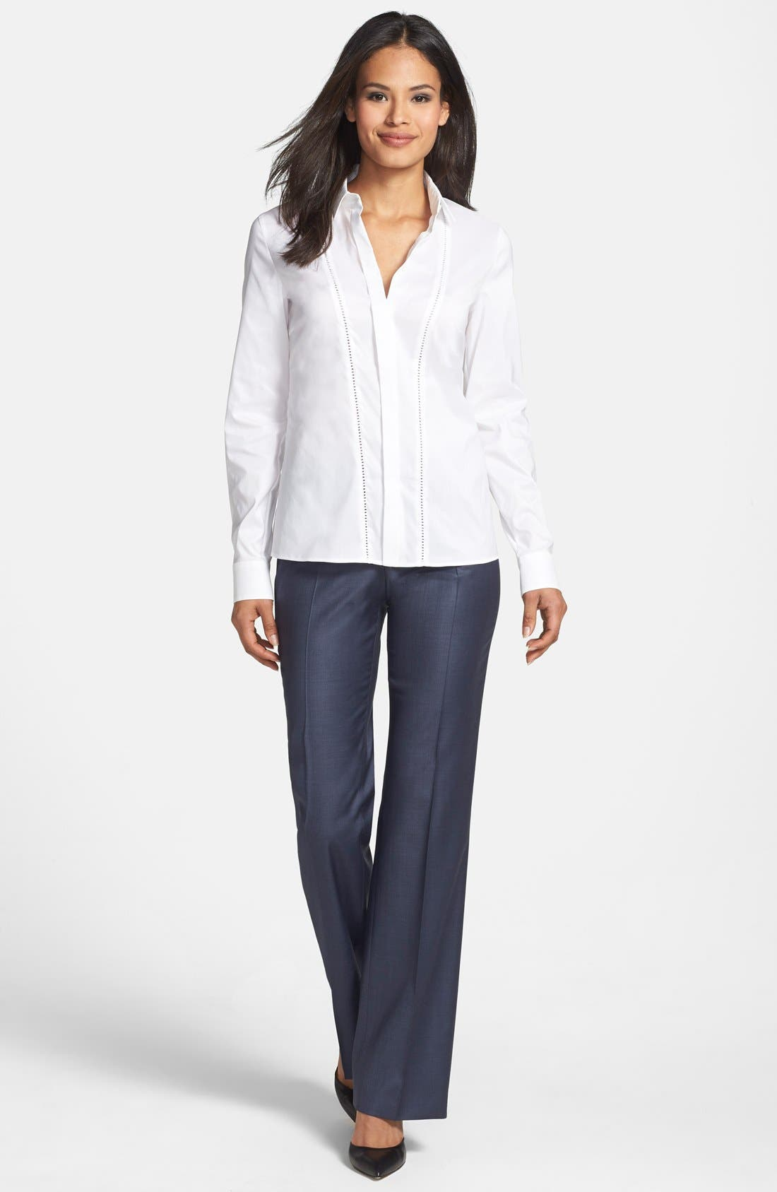 'Temuna' Wool Blend Suiting Trousers,                             Alternate thumbnail 3, color,                             463