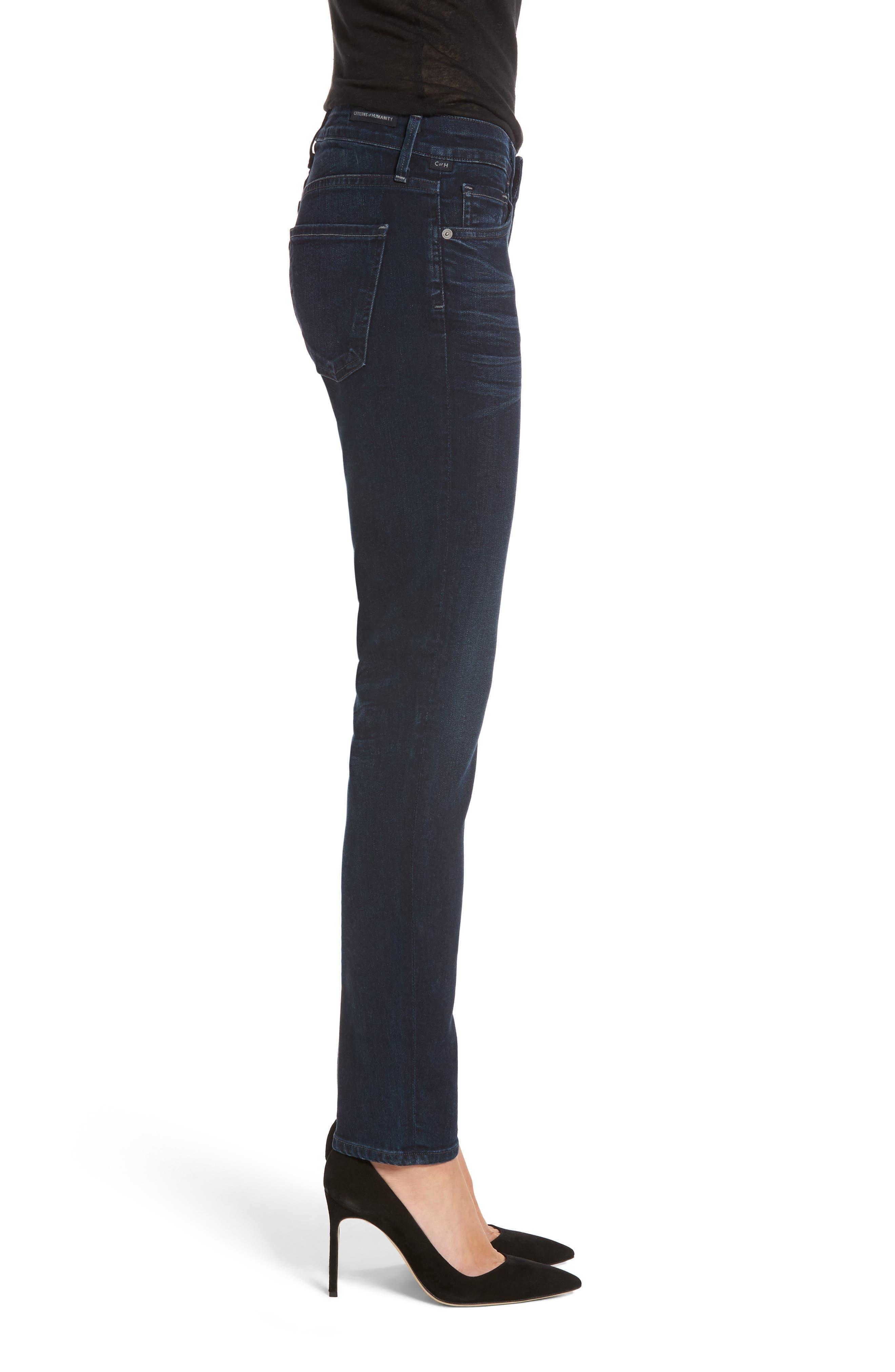 Arielle Skinny Jeans,                             Alternate thumbnail 3, color,                             406