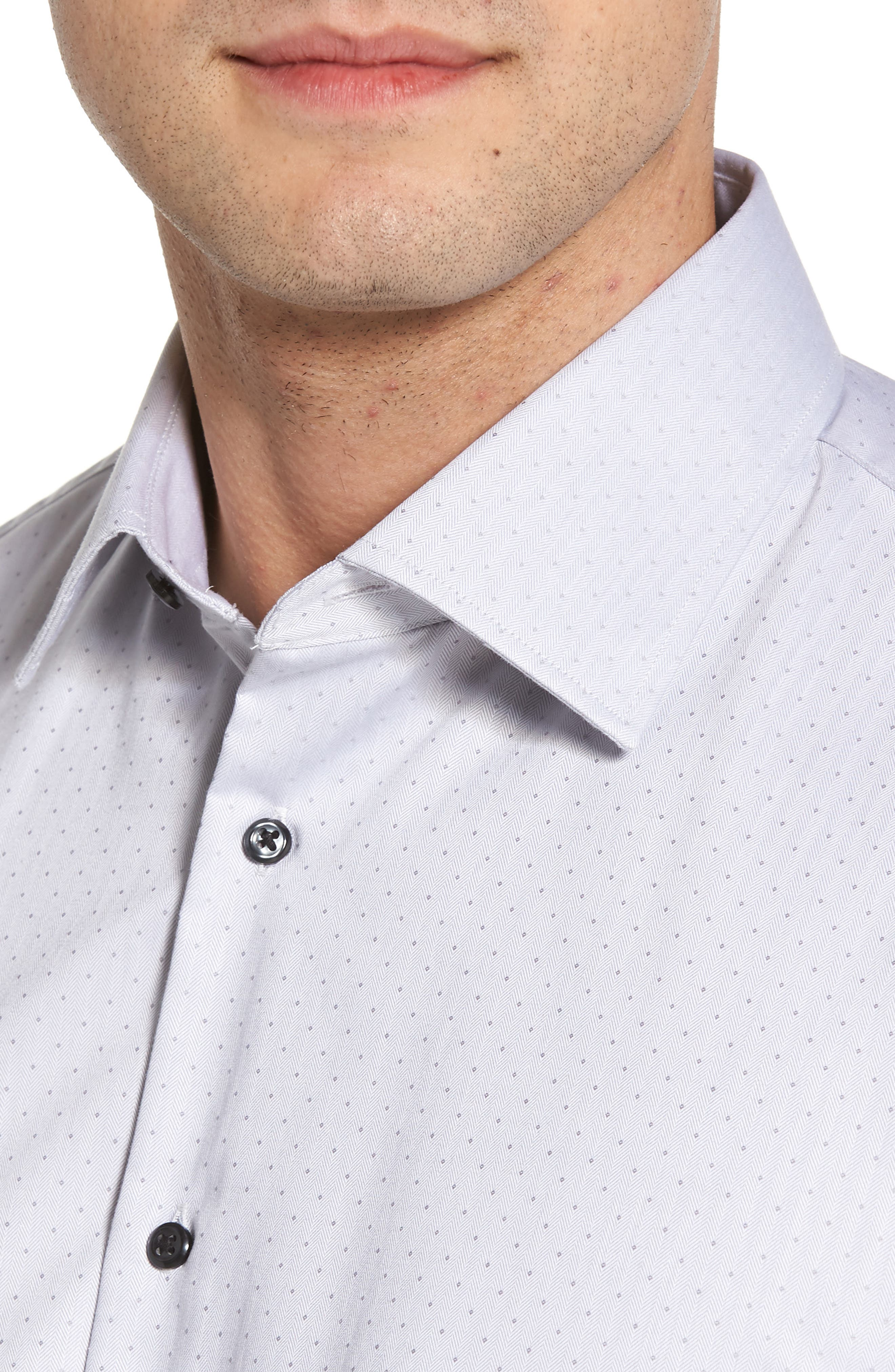 Traditional Fit Non-Iron Dress Shirt,                             Alternate thumbnail 3, color,