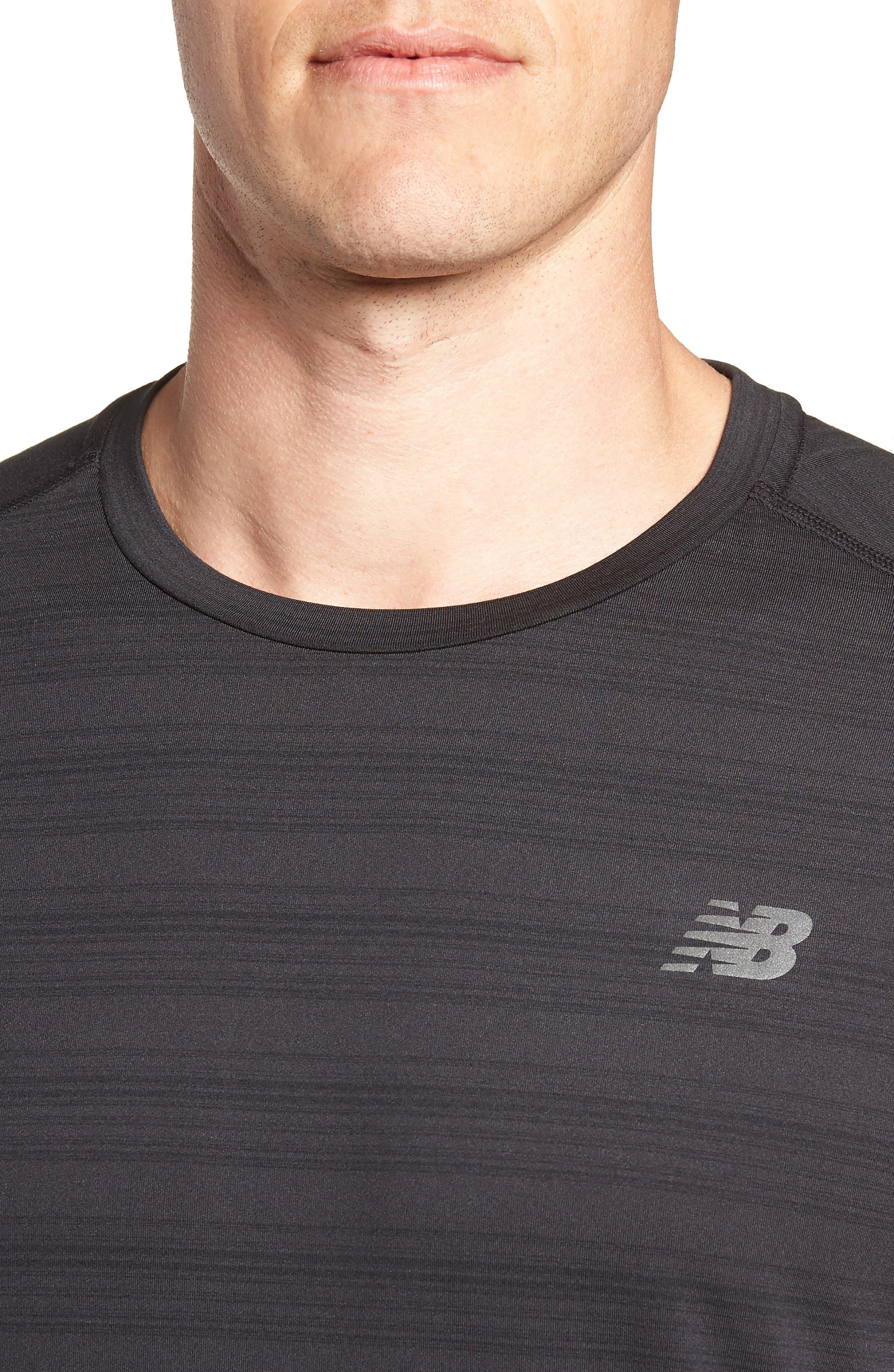 Anticipate Performance T-Shirt,                             Alternate thumbnail 4, color,                             BLACK