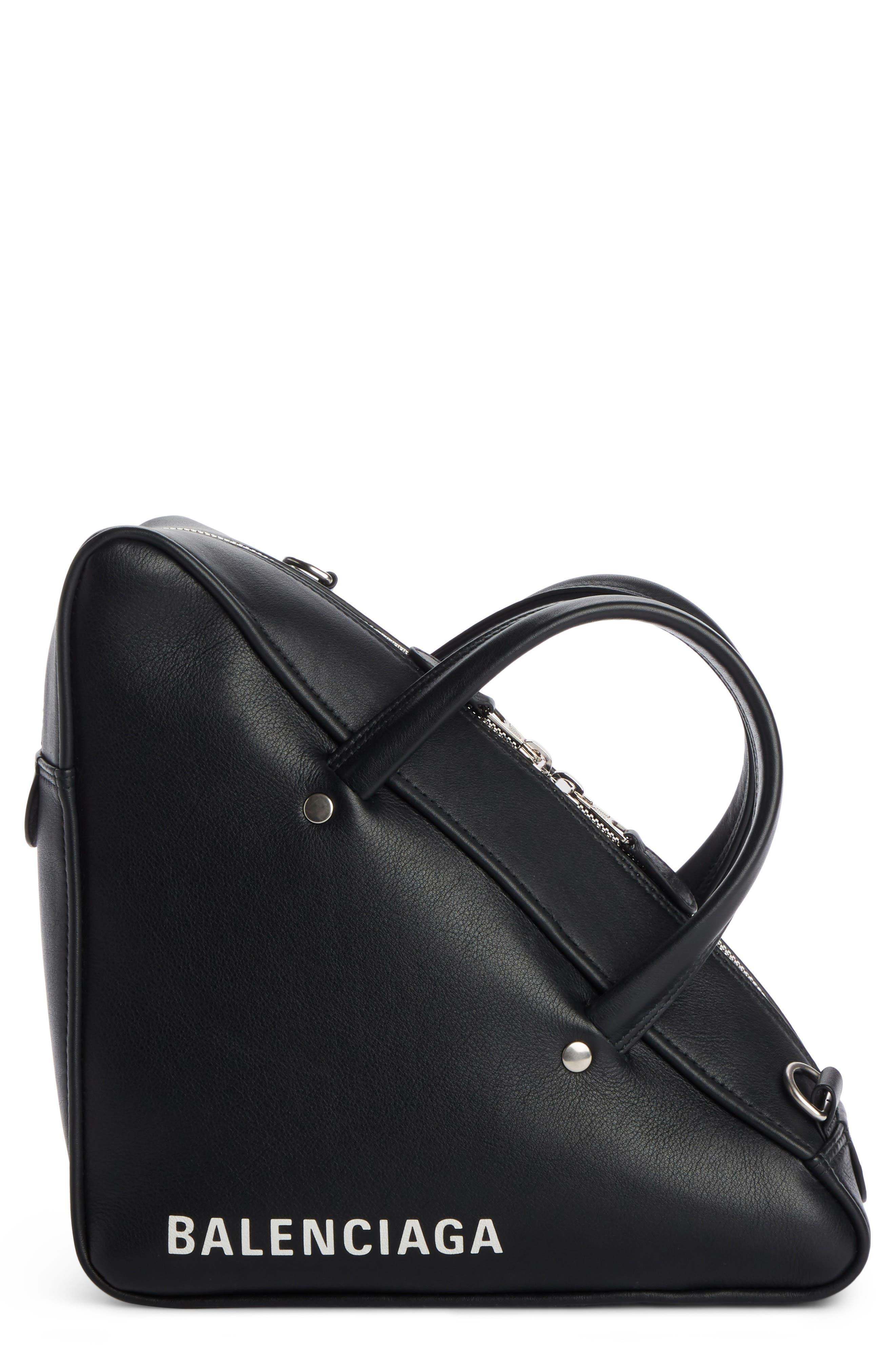 Small Triangle Duffel Bag,                             Main thumbnail 1, color,                             1000 NOIR