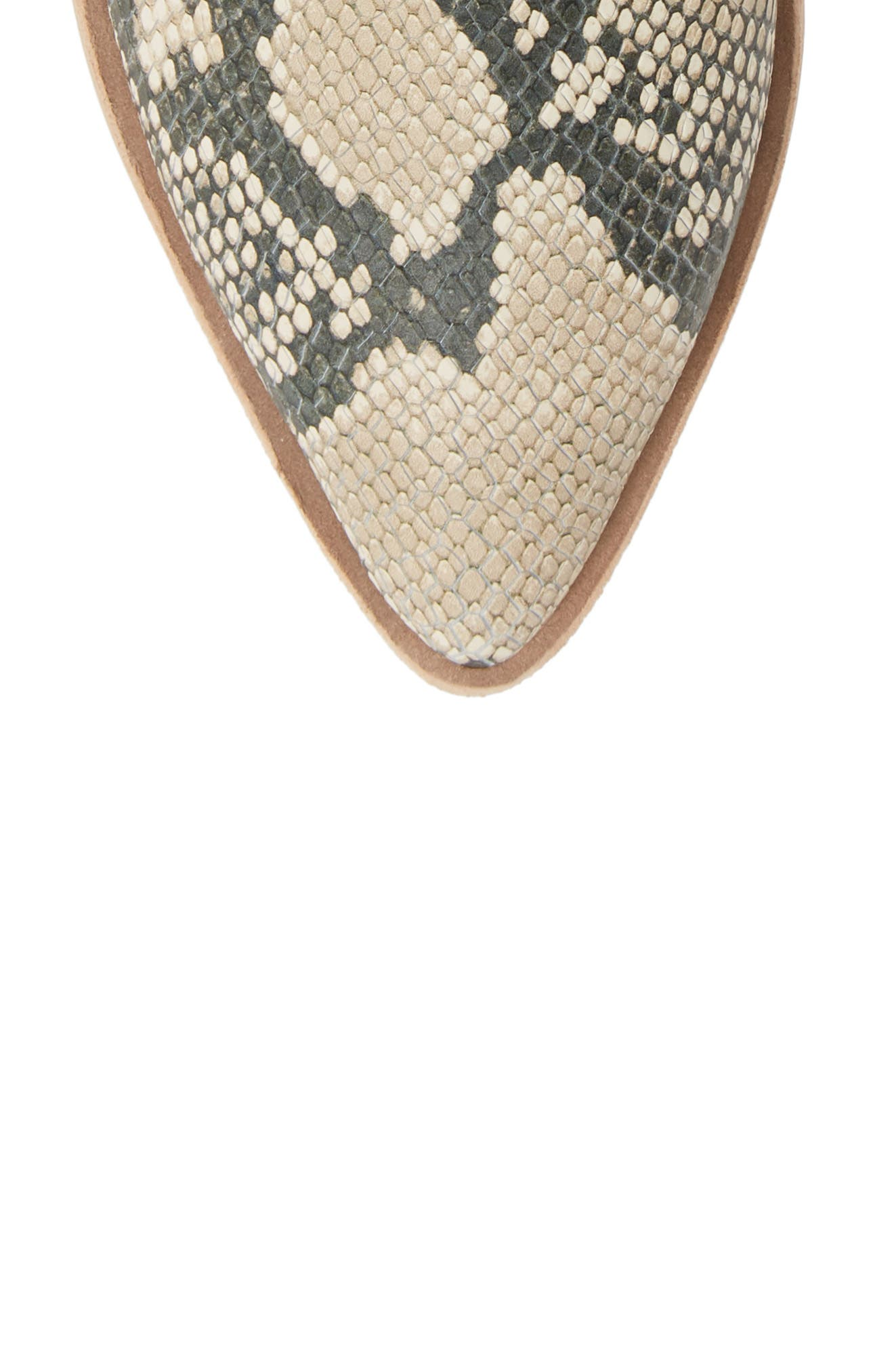 DOLCE VITA,                             Sonni Pointy Toe Bootie,                             Alternate thumbnail 5, color,                             SNAKE PRINT EMBOSSED LEATHER