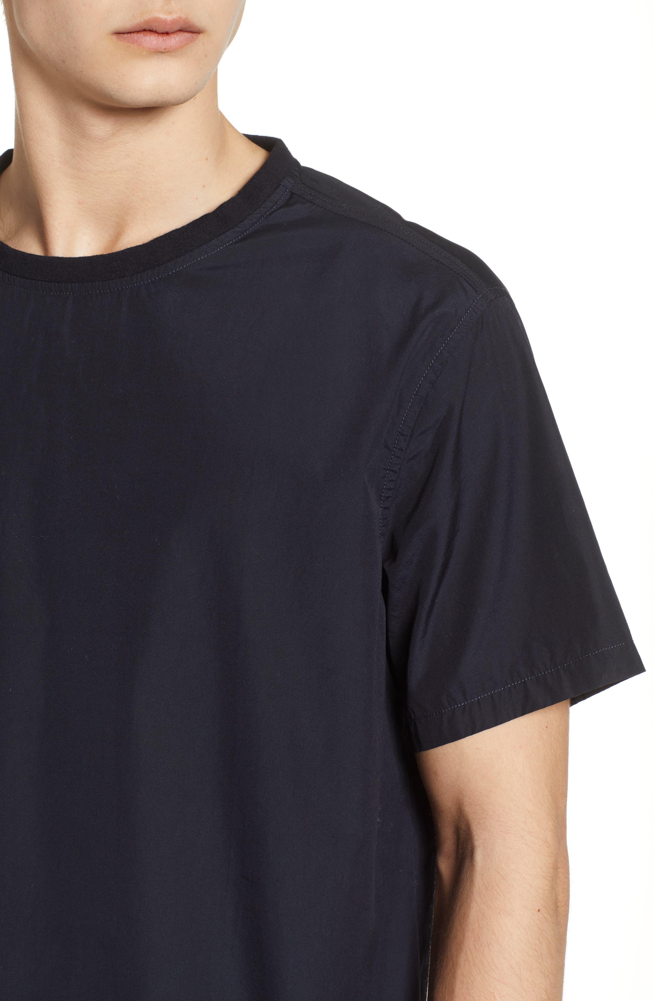 Woven T-Shirt,                             Alternate thumbnail 4, color,                             001