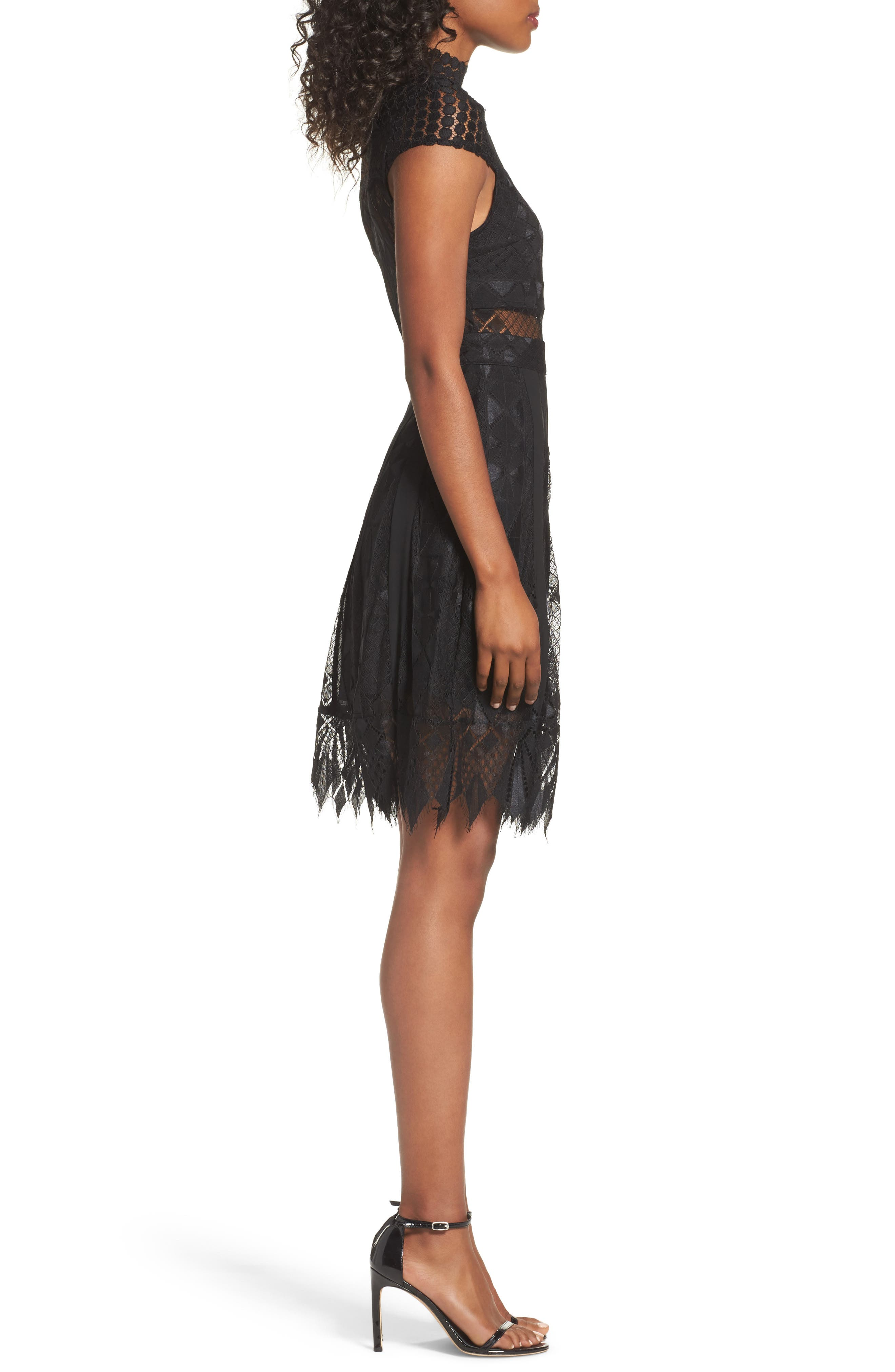 Bravo Zulu Lace Fit & Flare Dress,                             Alternate thumbnail 7, color,