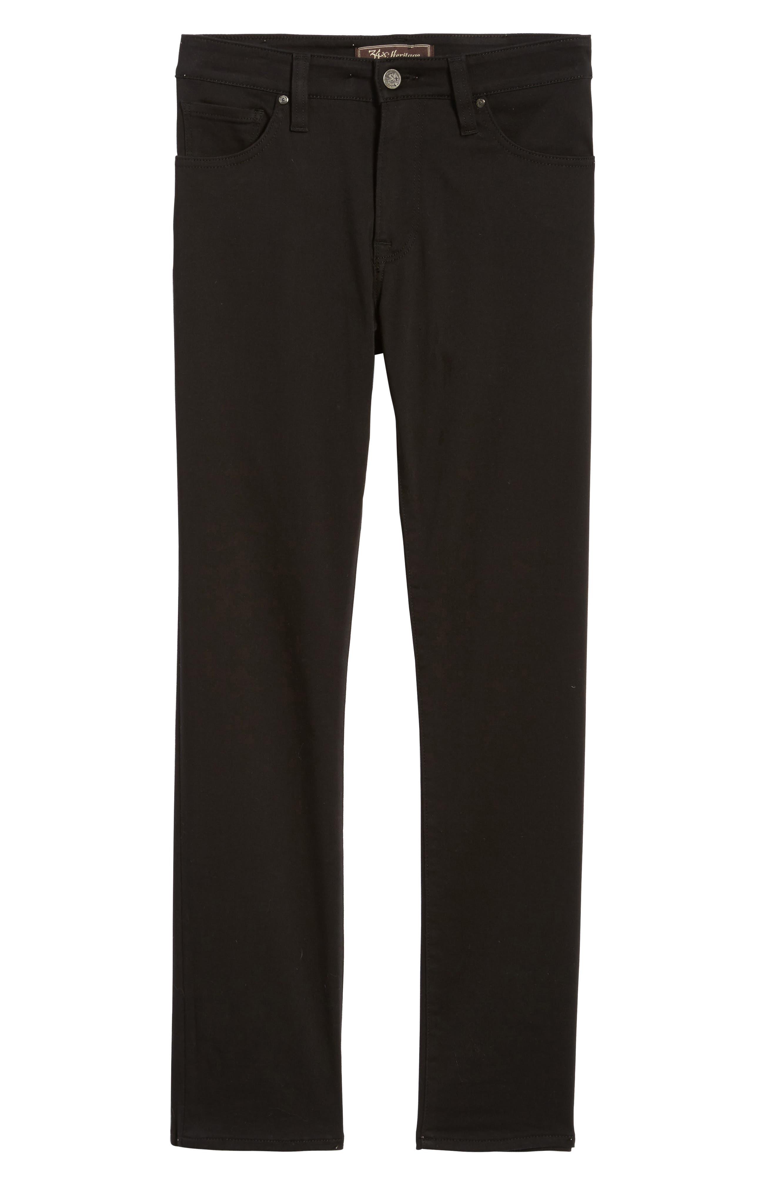 Courage Straight Leg Jeans,                             Alternate thumbnail 6, color,                             SELECT DOUBLE BLACK