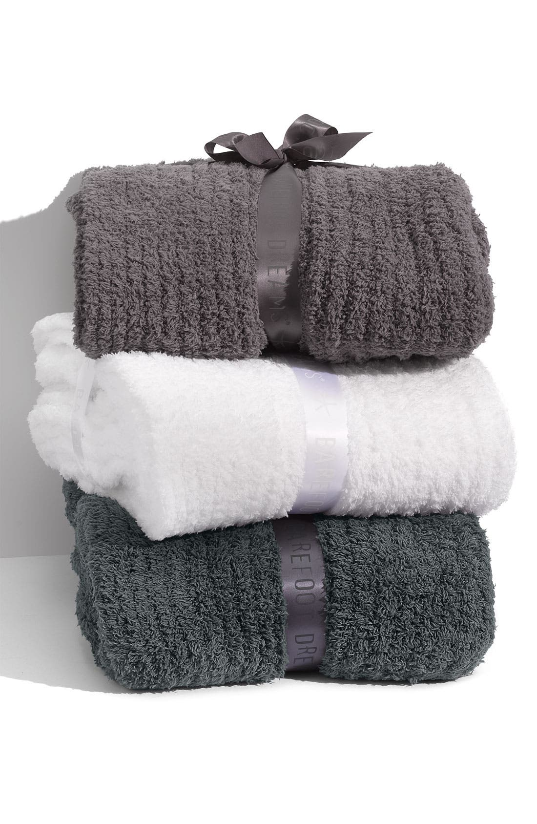 'CozyChic<sup>®</sup>' Ribbed Blanket,                             Alternate thumbnail 3, color,                             020
