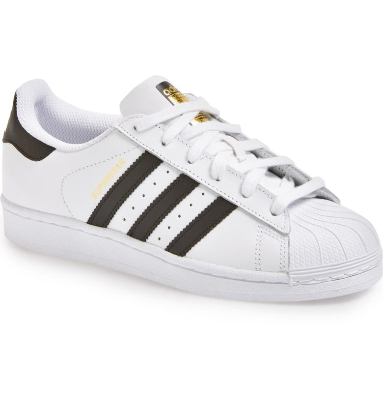 best service add96 9bb34 ADIDAS Superstar Sneaker, Main, color, WHITE  BLACK