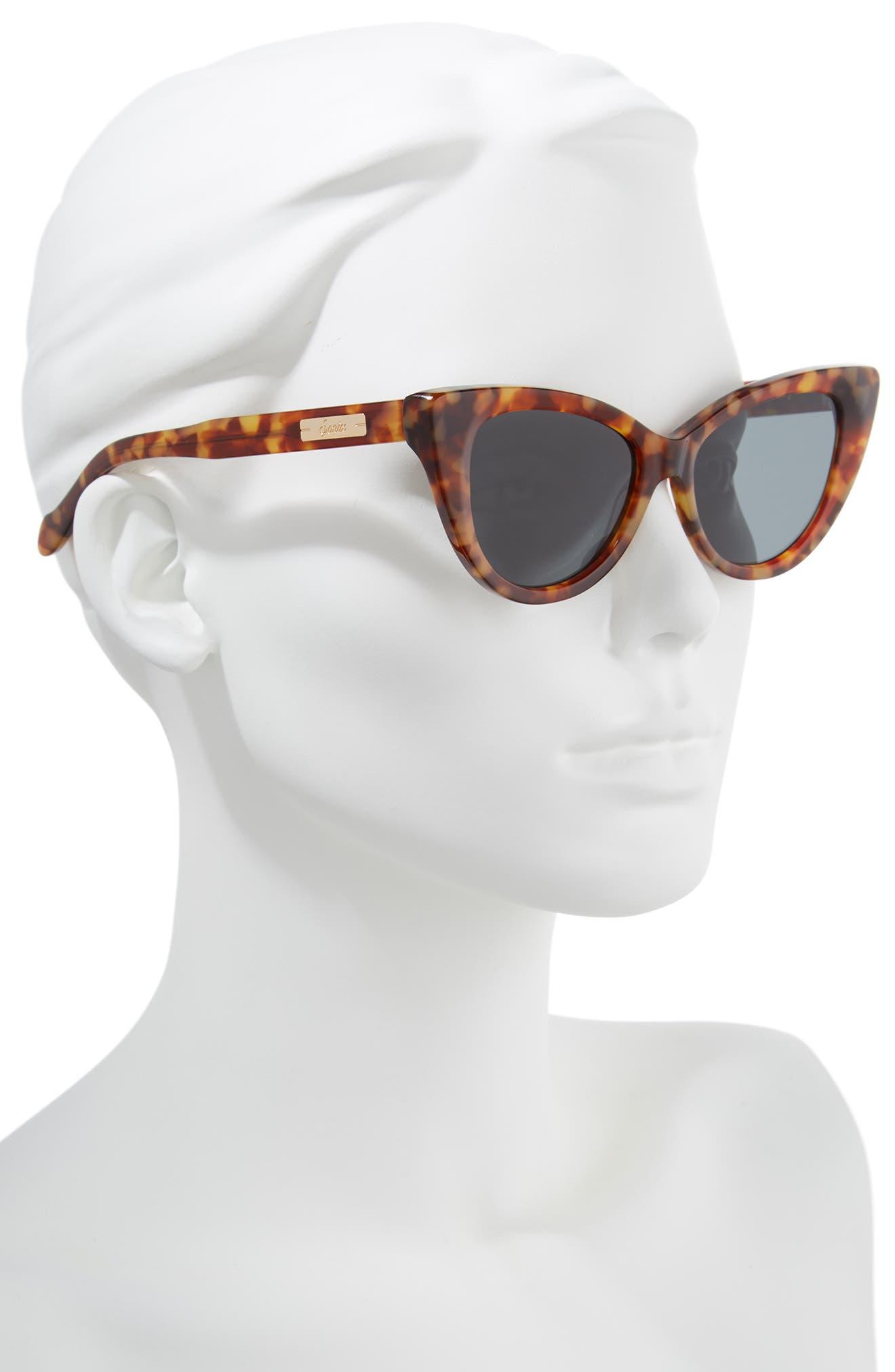 Kyoto 51mm Cat Eye Sunglasses,                             Alternate thumbnail 9, color,