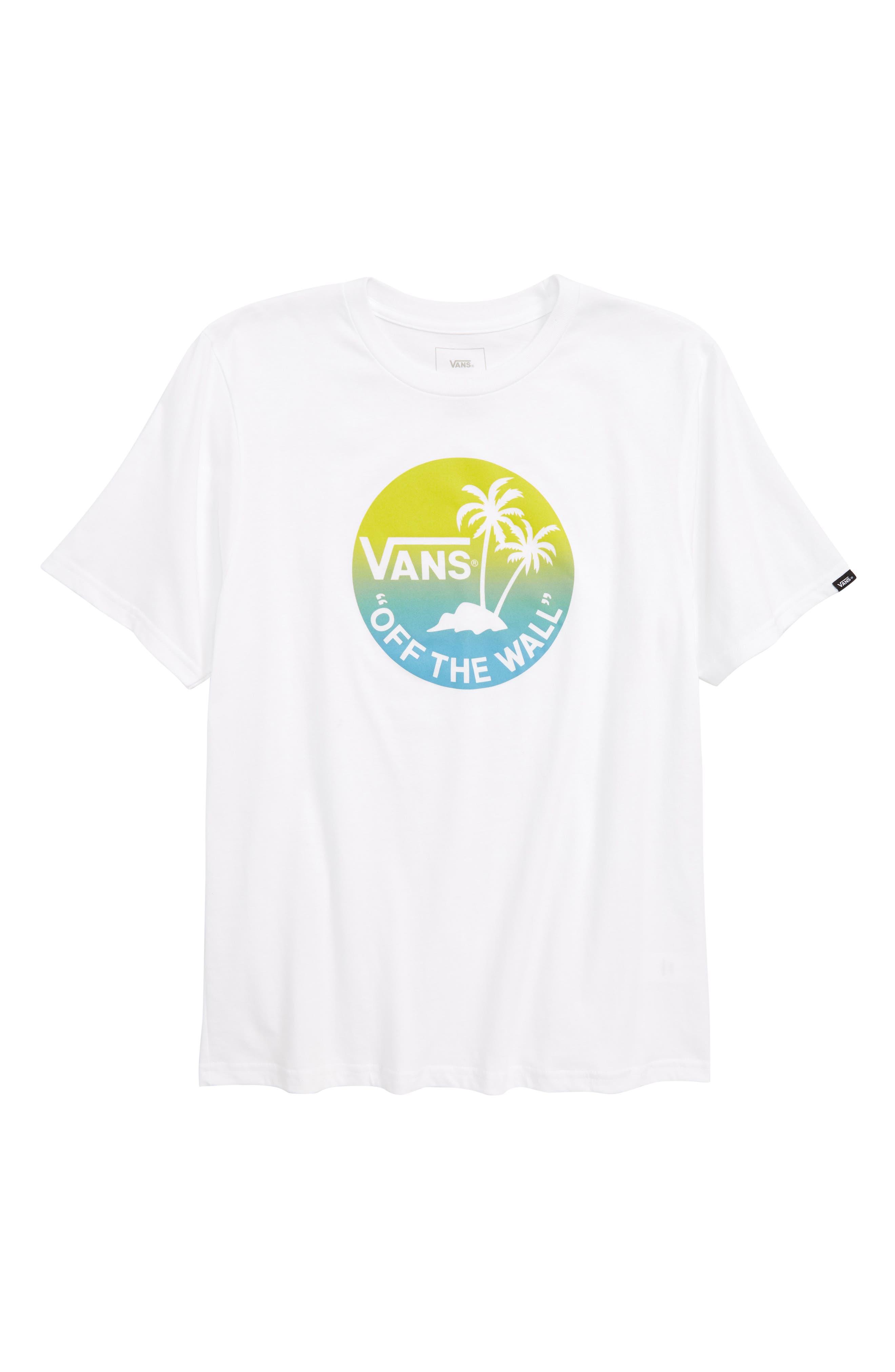 Dual Palm Gradient Graphic T-Shirt,                             Main thumbnail 2, color,