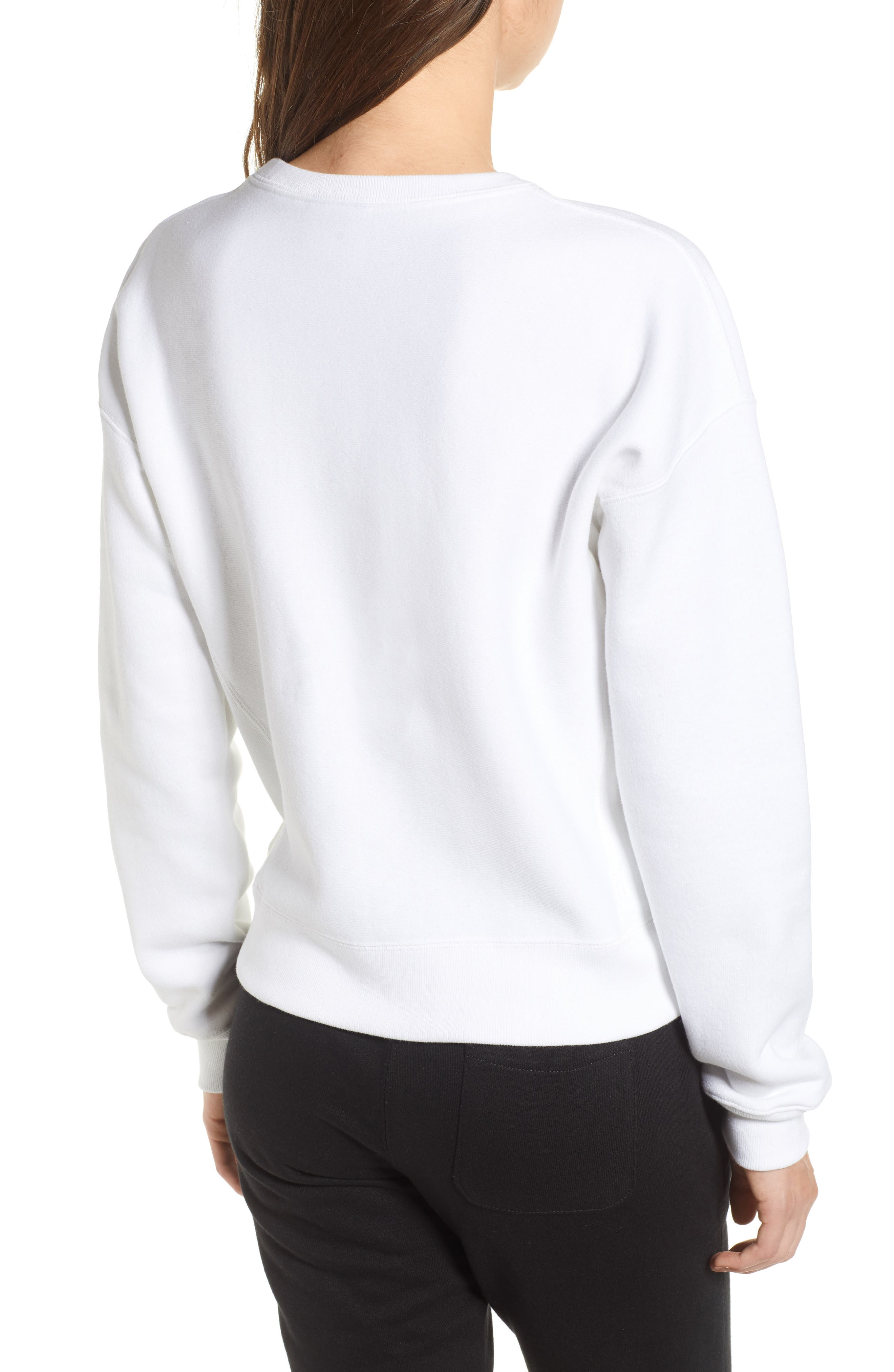 Reverse Weave Crew Sweatshirt,                             Alternate thumbnail 2, color,                             100