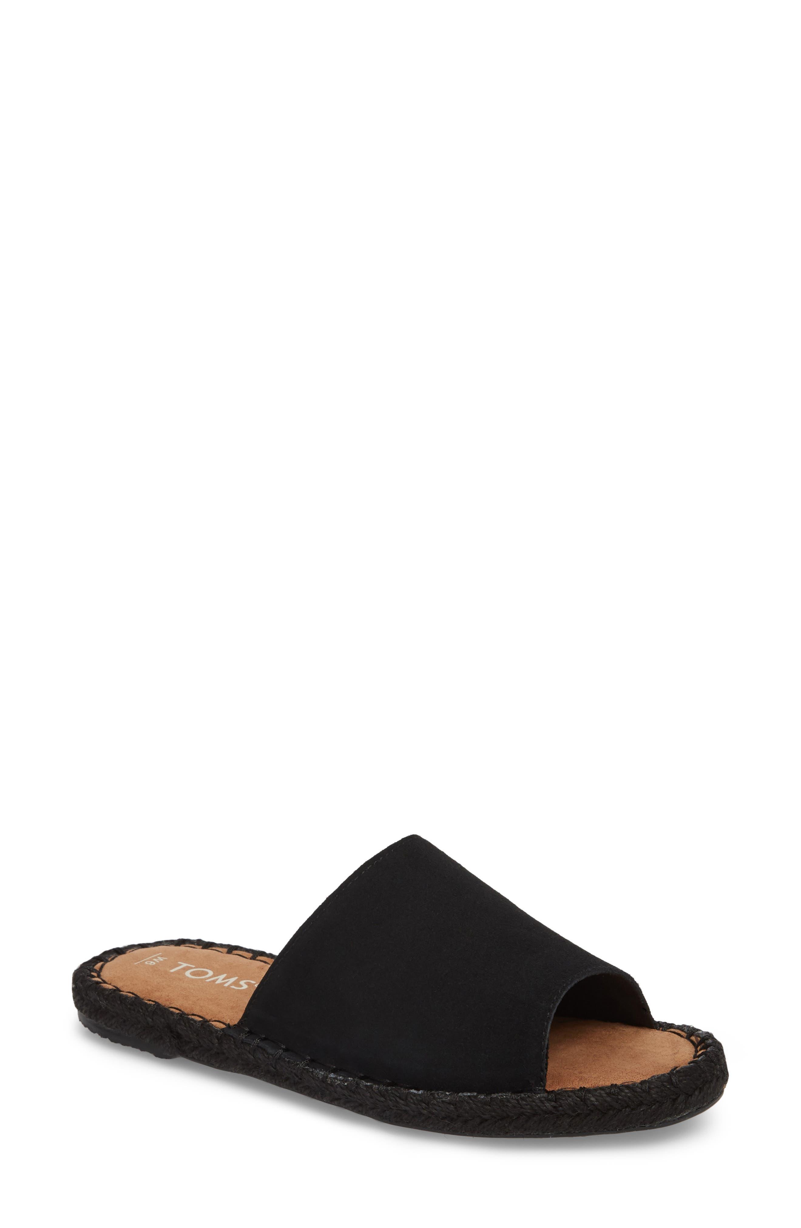 Clarita Espadrille Slide Sandal,                         Main,                         color, 001