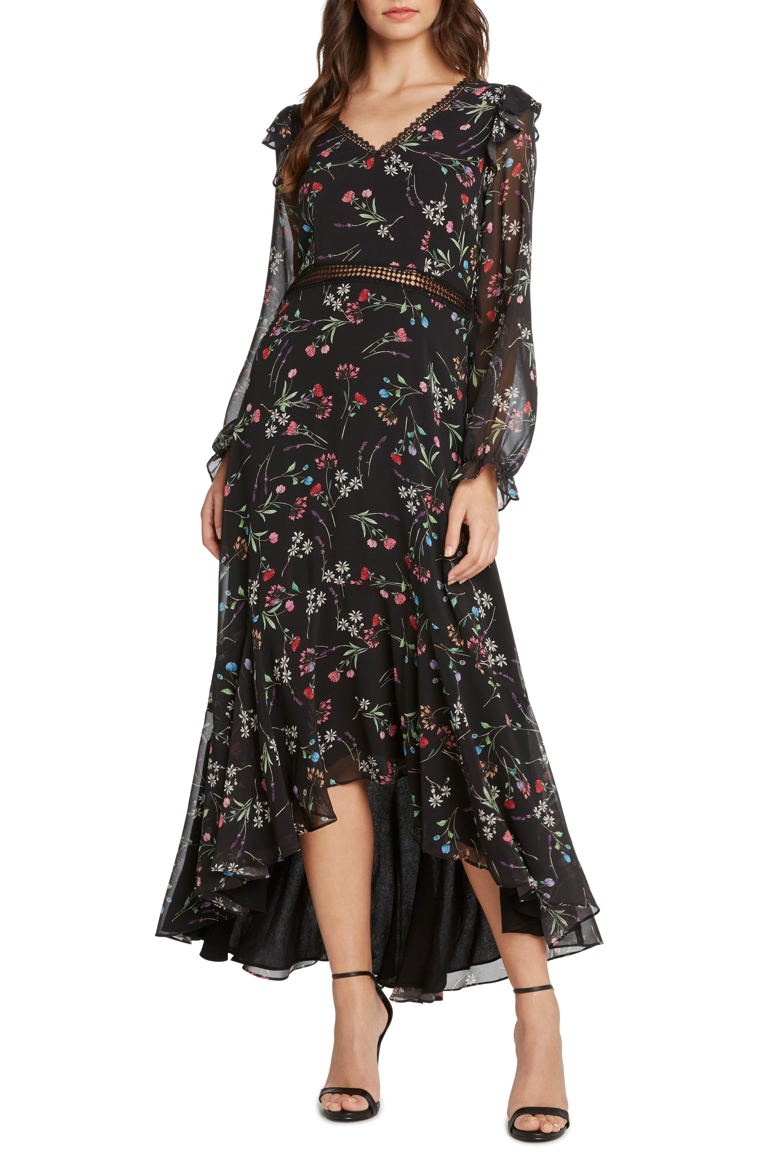 Floral Maxi Dress,                             Main thumbnail 1, color,                             001