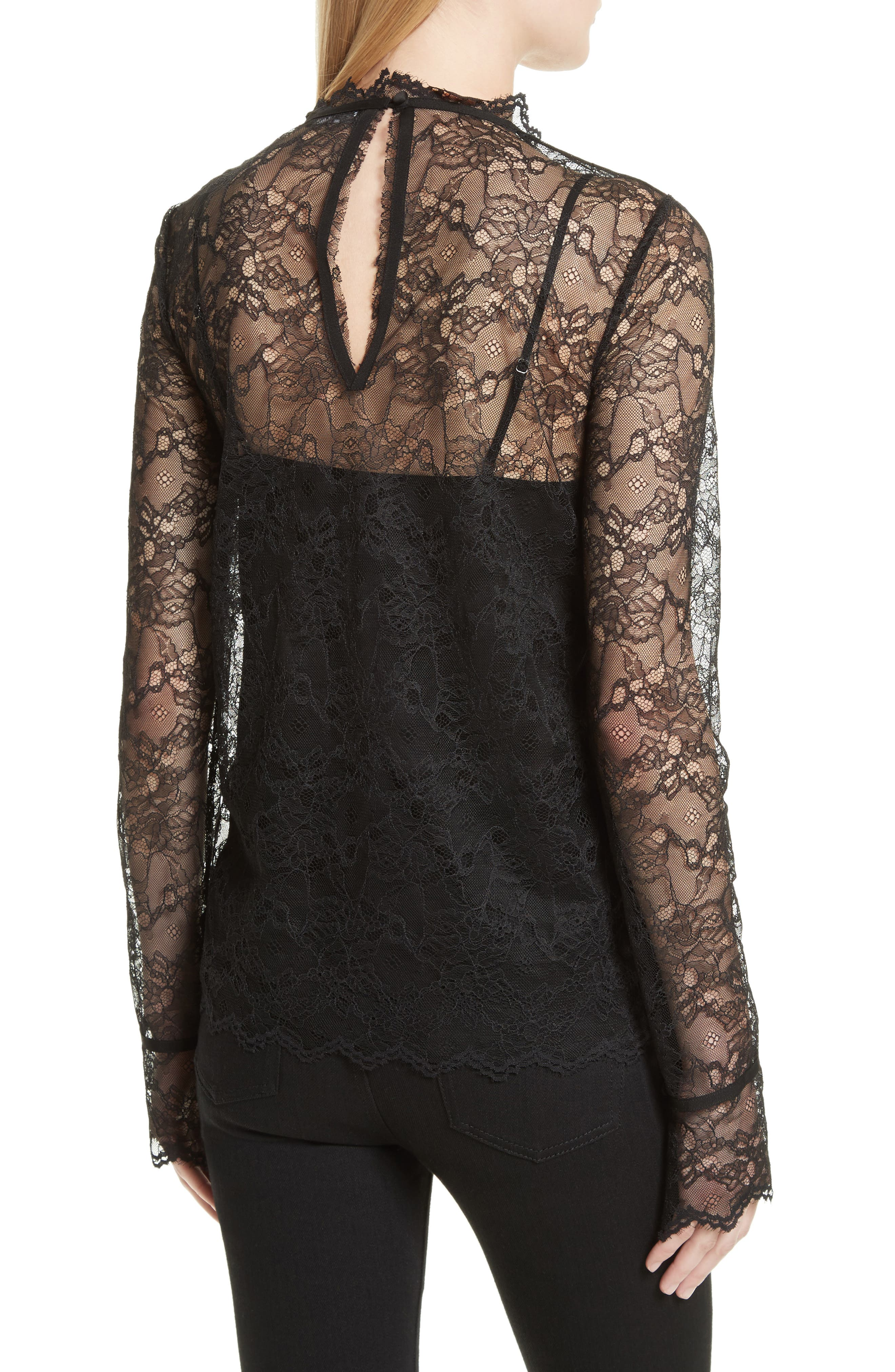 Lace Top with Tank,                             Alternate thumbnail 2, color,                             001