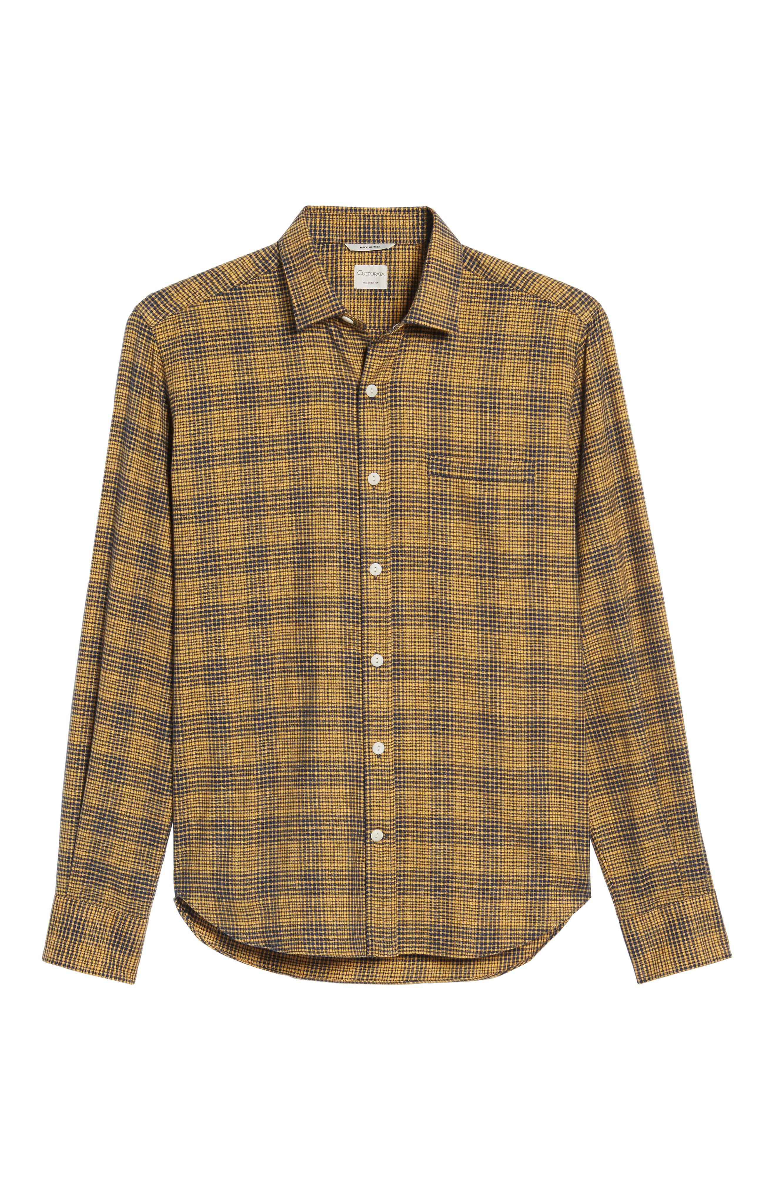 Glen Plaid Sport Shirt,                             Alternate thumbnail 6, color,                             700