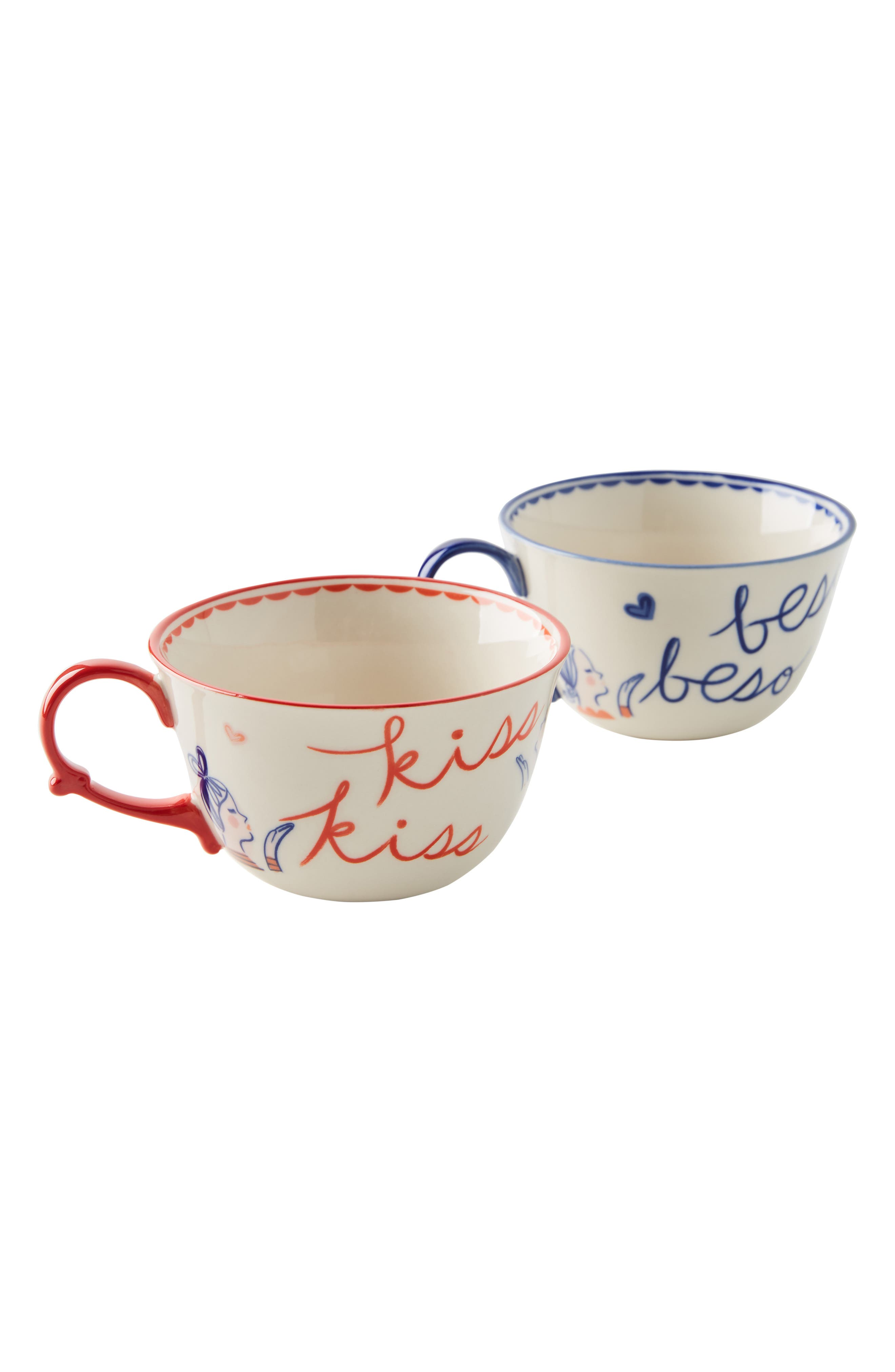 Libby VanderPloeg Set of 2 Mugs,                             Alternate thumbnail 4, color,                             BLUE COMBO