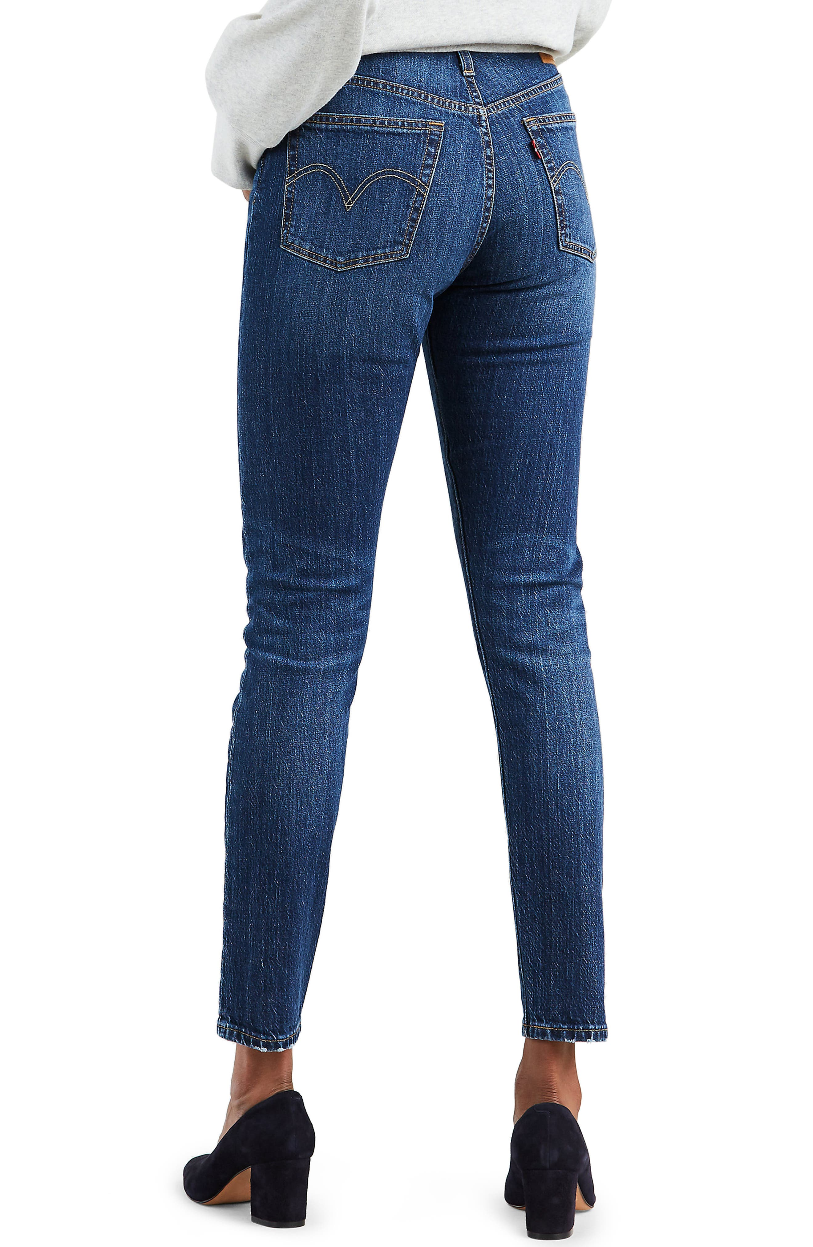 501<sup>®</sup> High Waist Ankle Skinny Jeans,                             Alternate thumbnail 2, color,                             NEAT FREAK