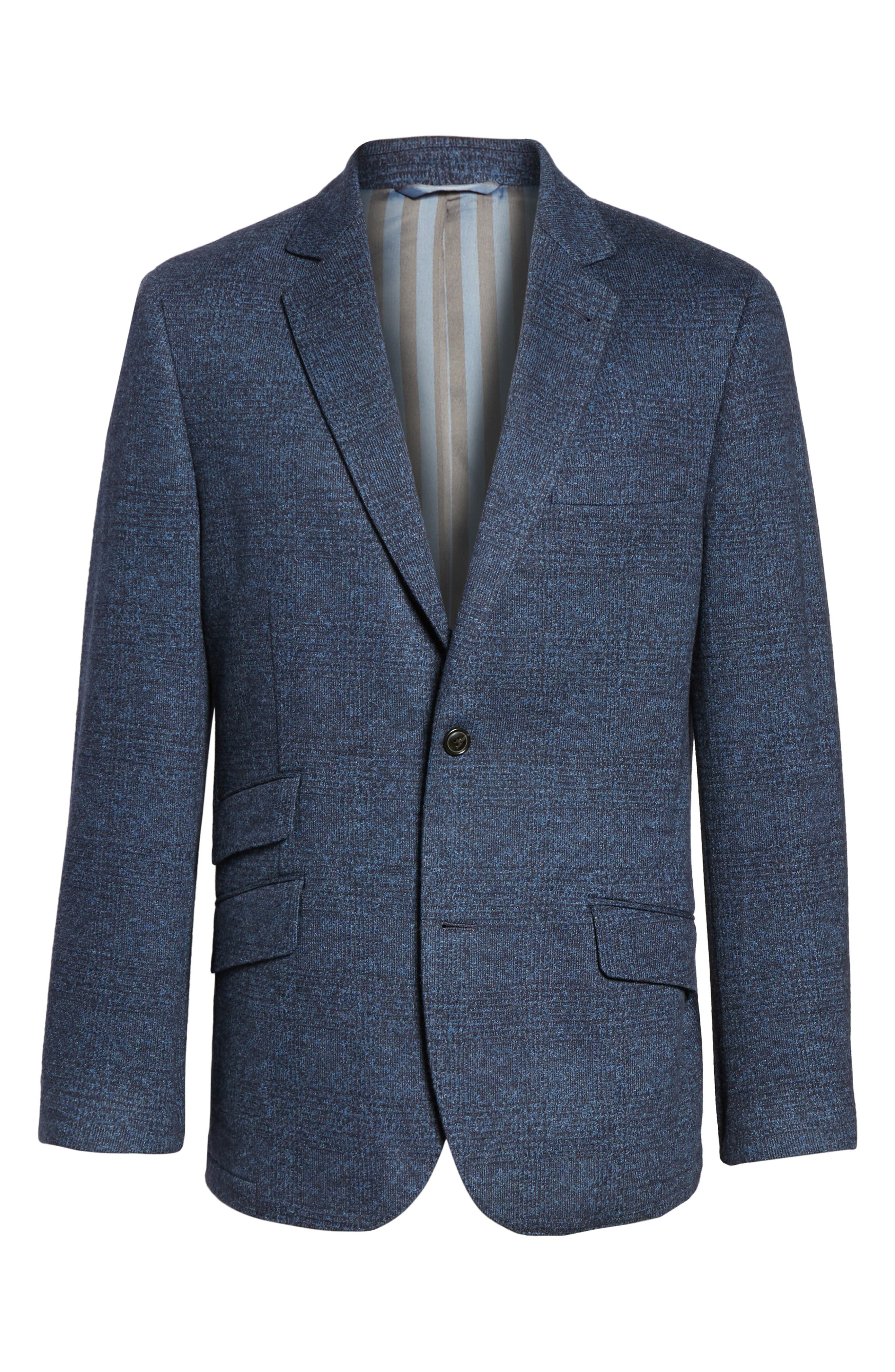 Classic Fit Cotton & Wool Jersey Sport Coat,                             Alternate thumbnail 5, color,