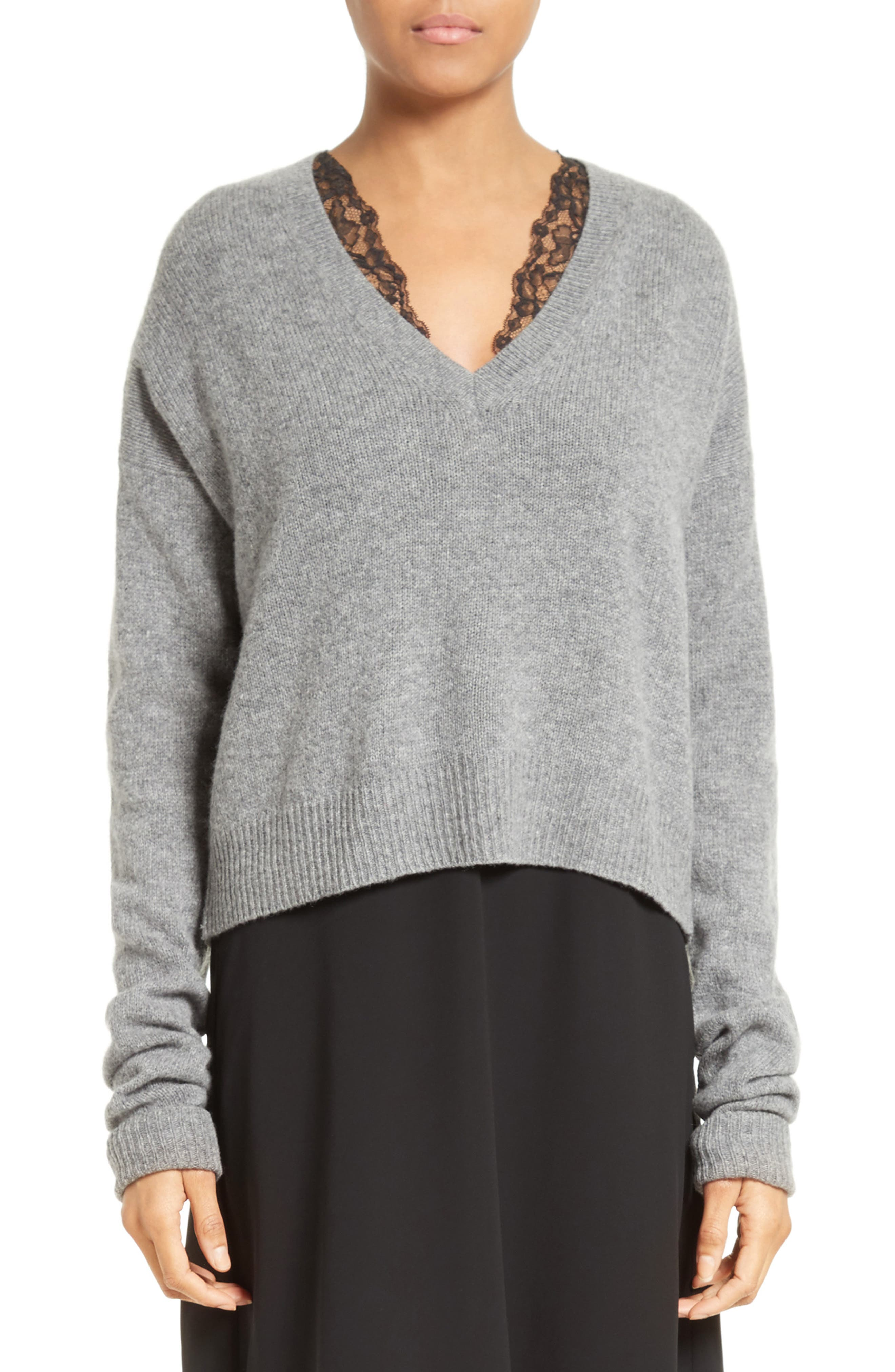 Wool & Cashmere Cutout Sweater,                             Main thumbnail 1, color,                             061
