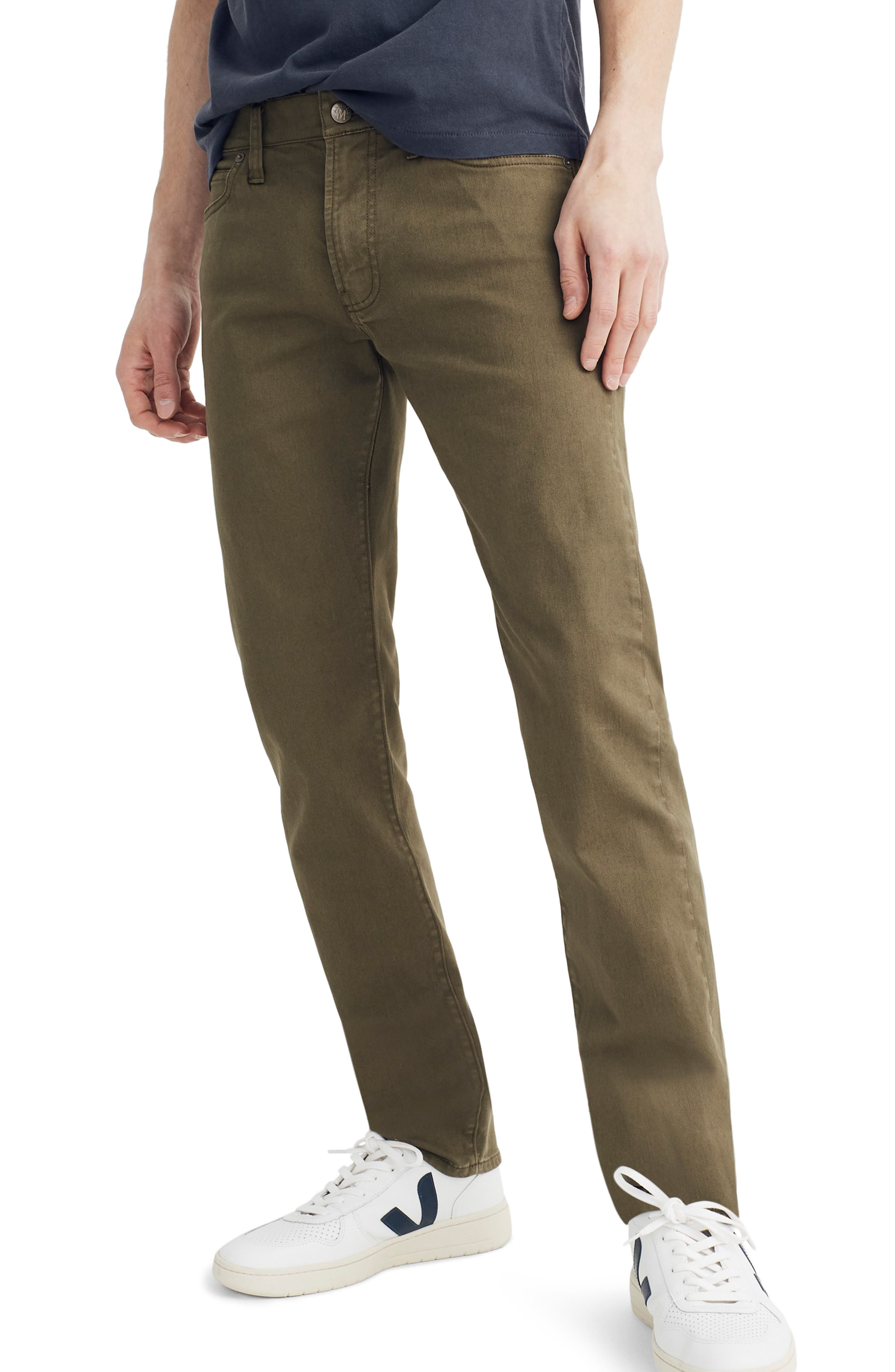 MADEWELL Garment Dyed Slim Fit Jeans, Main, color, FADED IVY