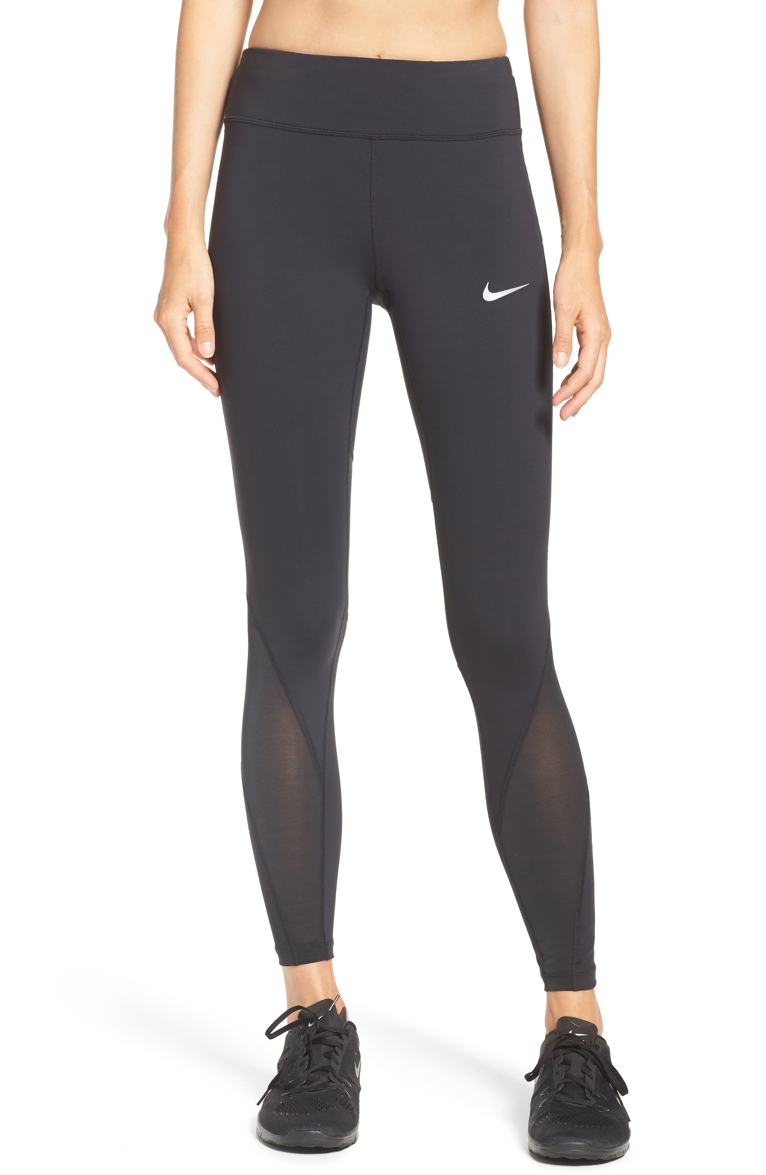 Power Epic Luxe Running Tights,                             Main thumbnail 1, color,                             010