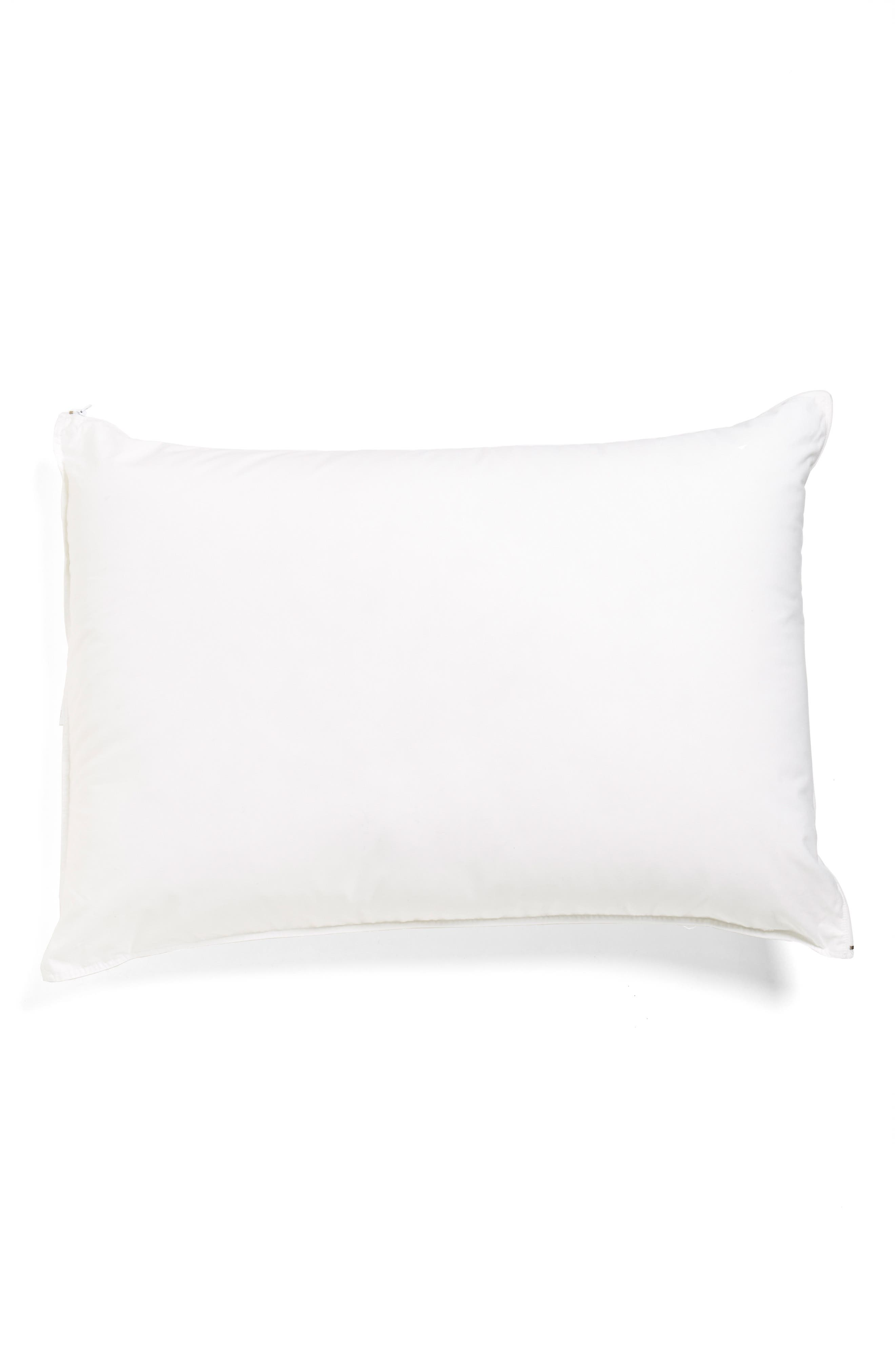 300 Thread Count Memory Foam Pillow,                         Main,                         color, WHITE