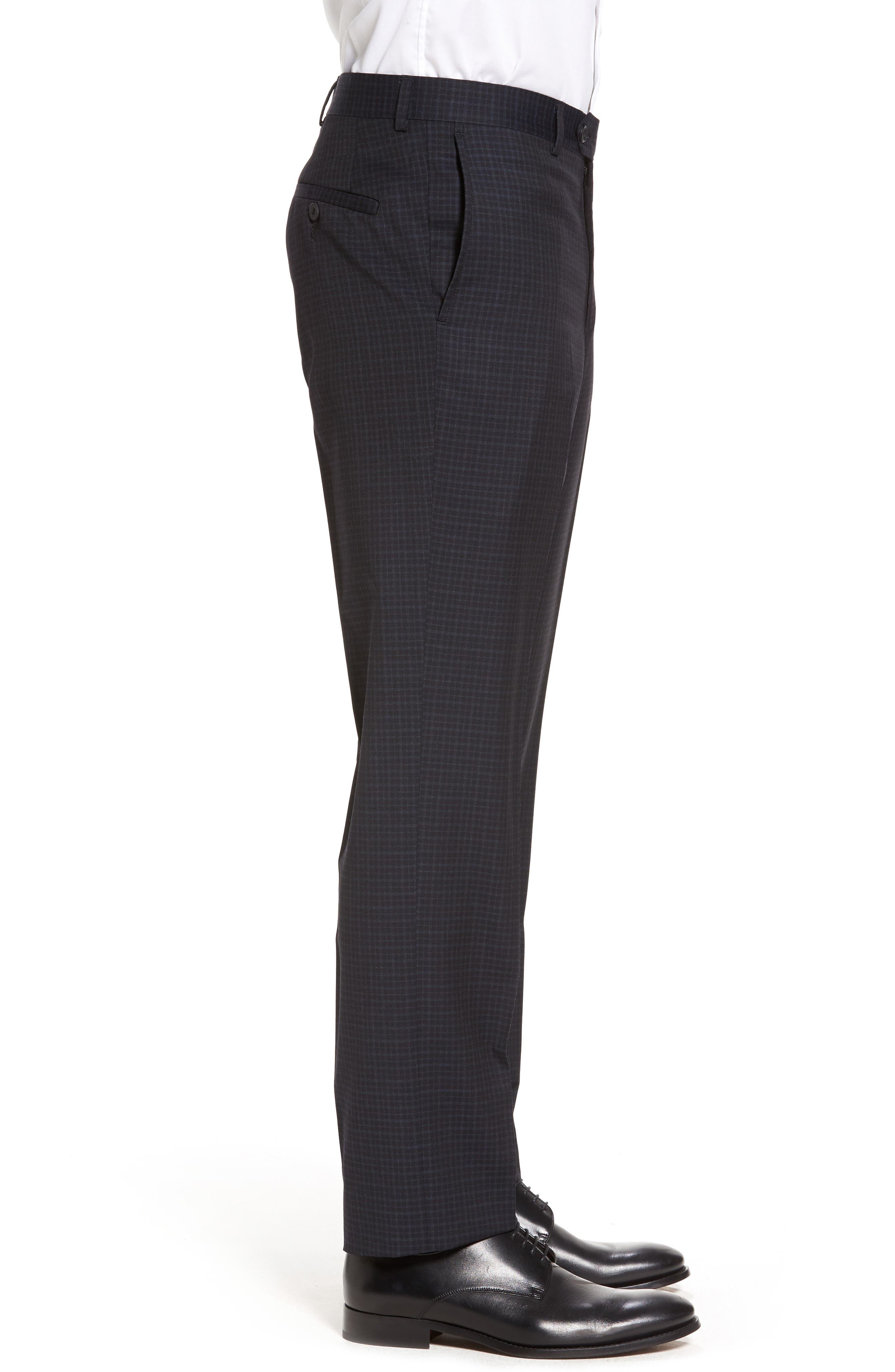 Flat Front Wool Trousers,                             Alternate thumbnail 8, color,