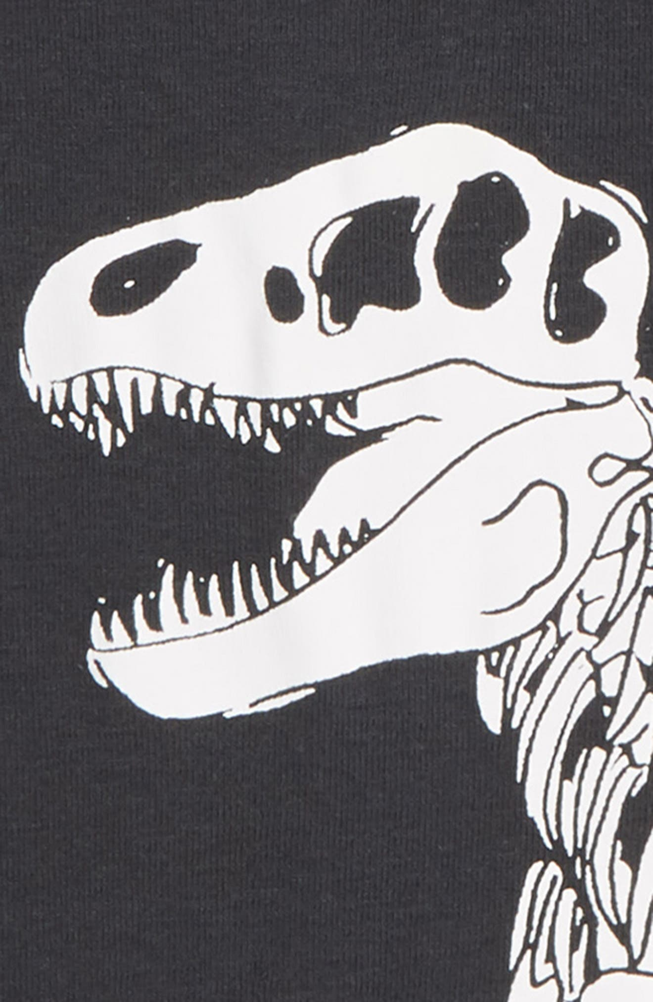 T. Rex Skeleton Fitted Two-Piece Pajamas,                             Alternate thumbnail 2, color,                             001