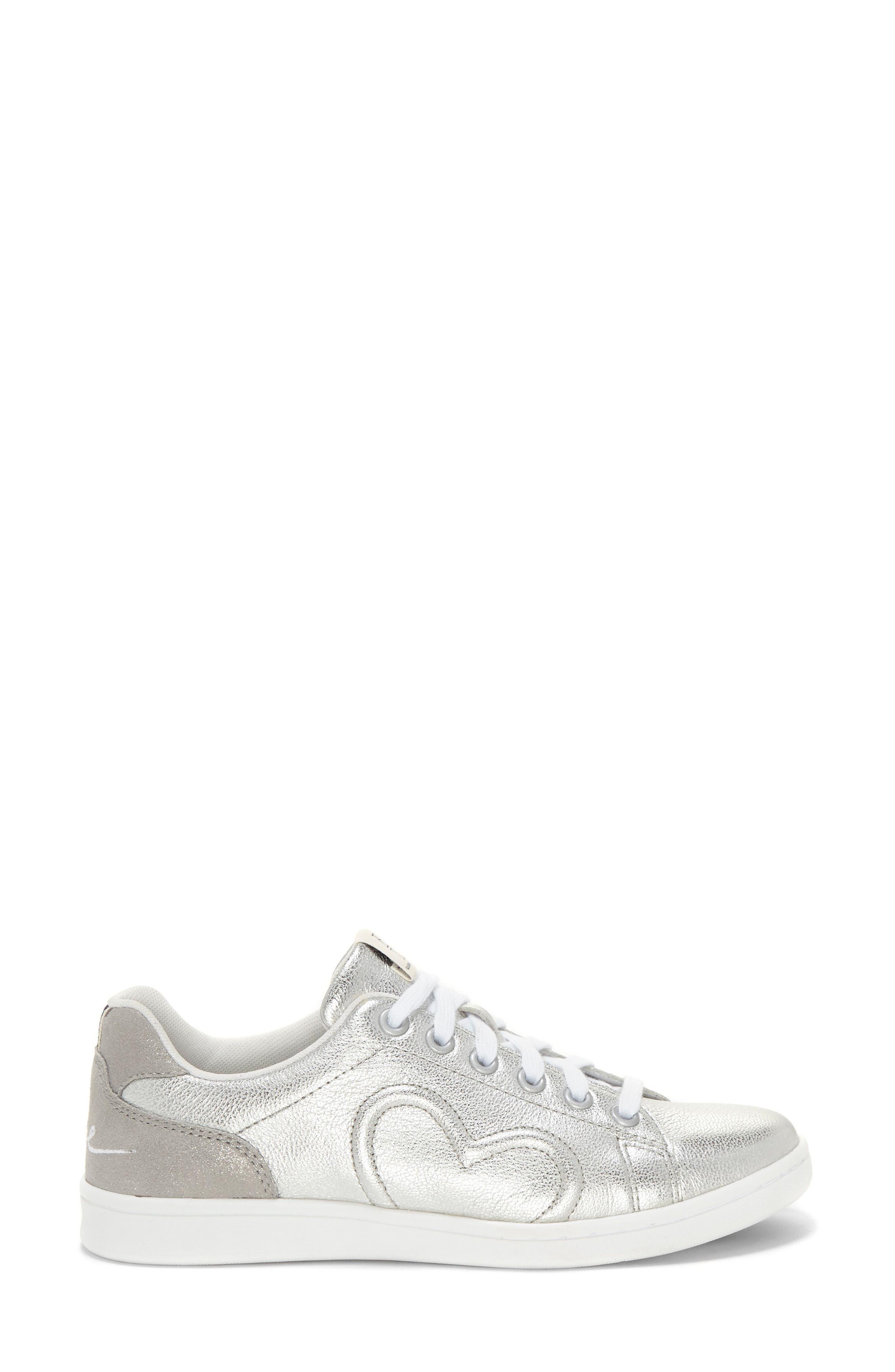 Chapunto Sneaker,                             Alternate thumbnail 3, color,                             SILVER SUEDE