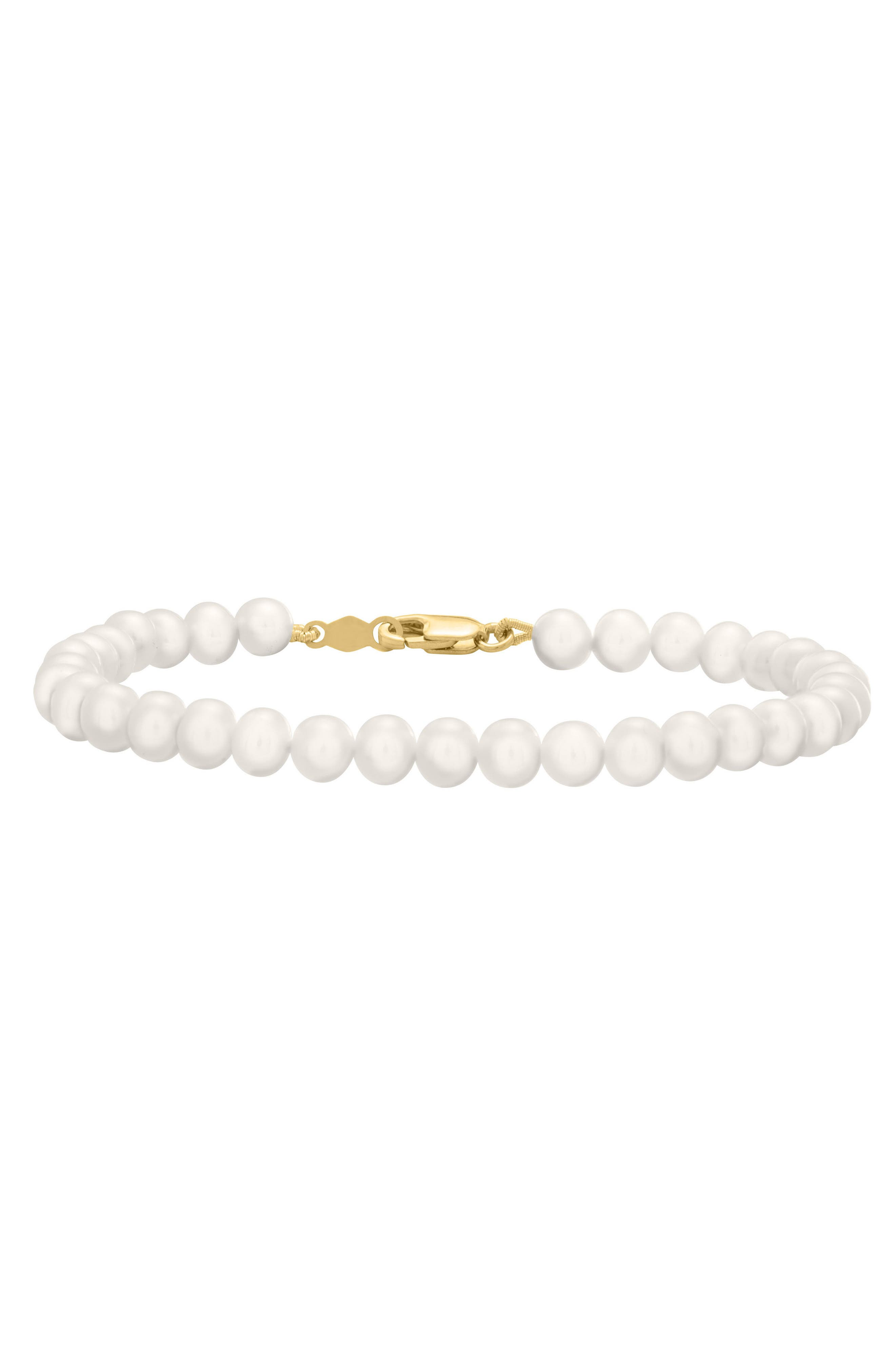 Gold & Cultured Pearl Bracelet,                             Main thumbnail 1, color,                             GOLD