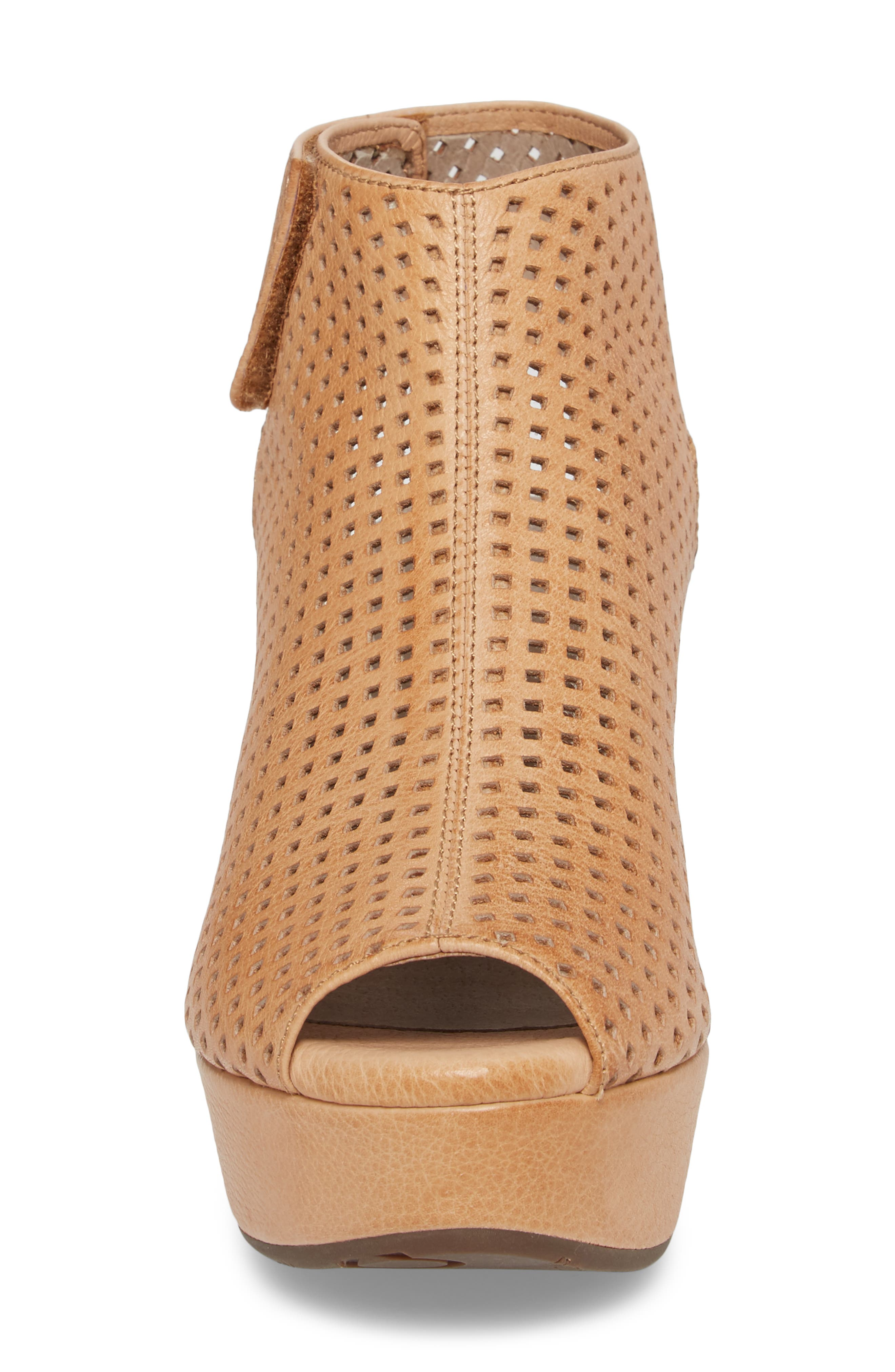 Wing Perforated Platform Wedge,                             Alternate thumbnail 4, color,                             200