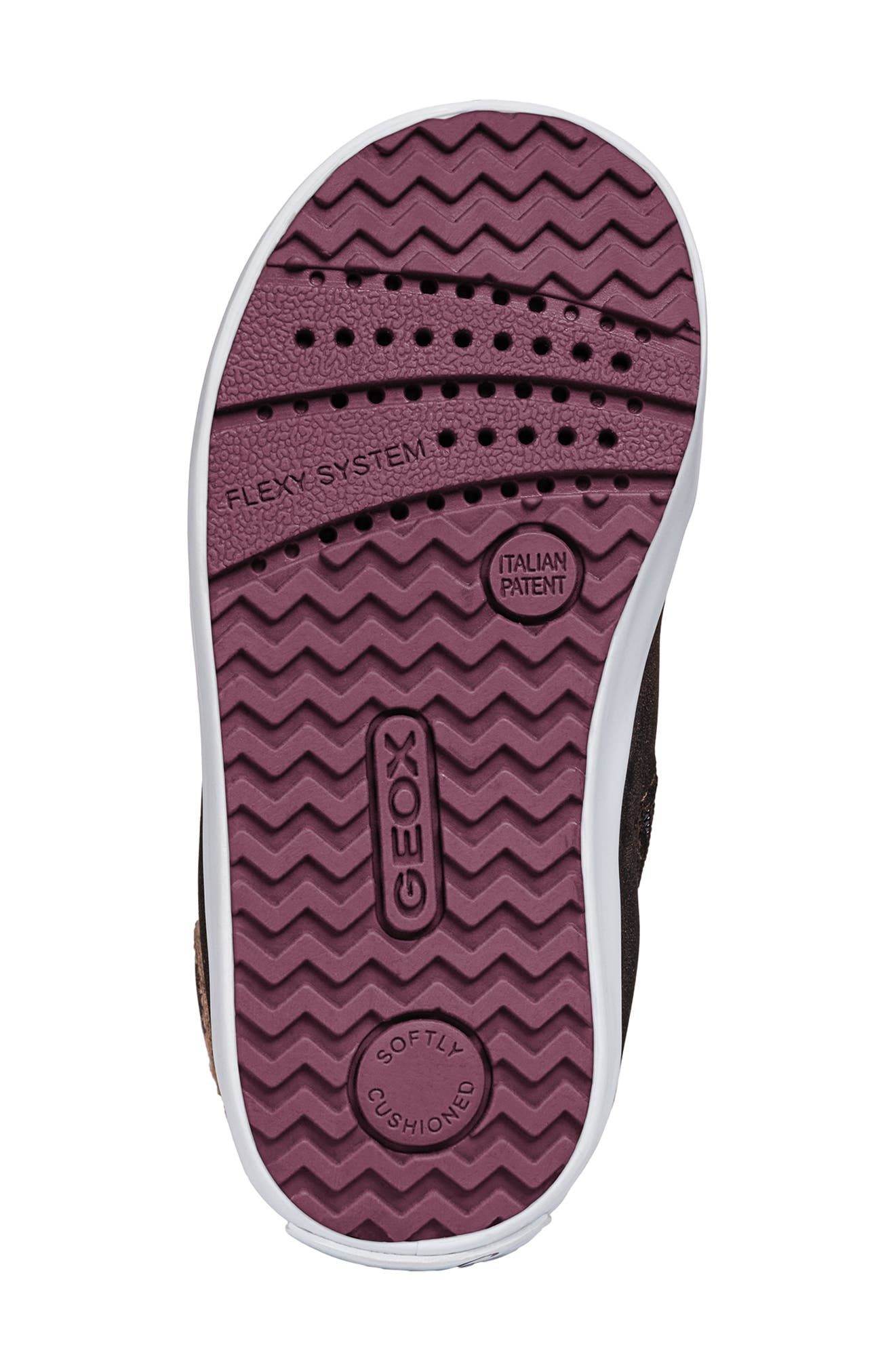 Kilwi Sparkle High Top Sneaker,                             Alternate thumbnail 5, color,                             DARK BURGUNDY
