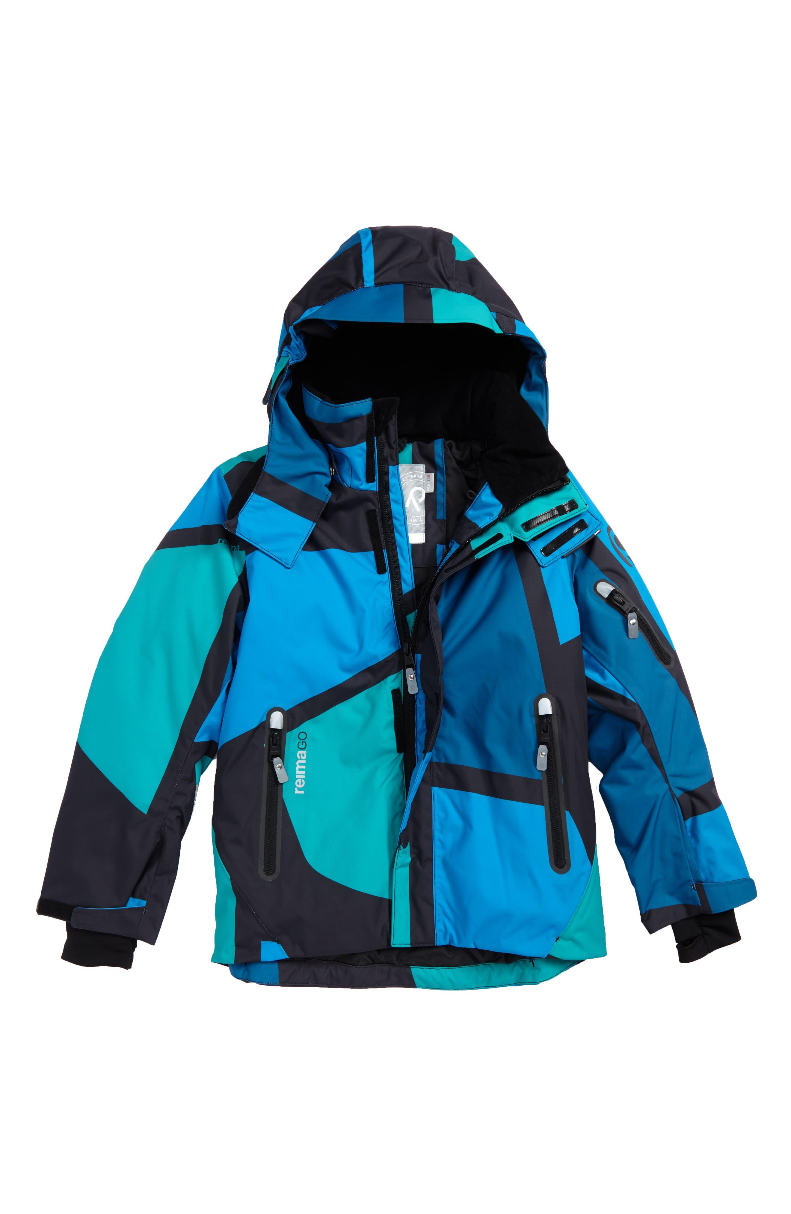 Reimatec<sup>®</sup> Wheeler Waterproof Hooded Snowsports Jacket,                         Main,                         color, 400