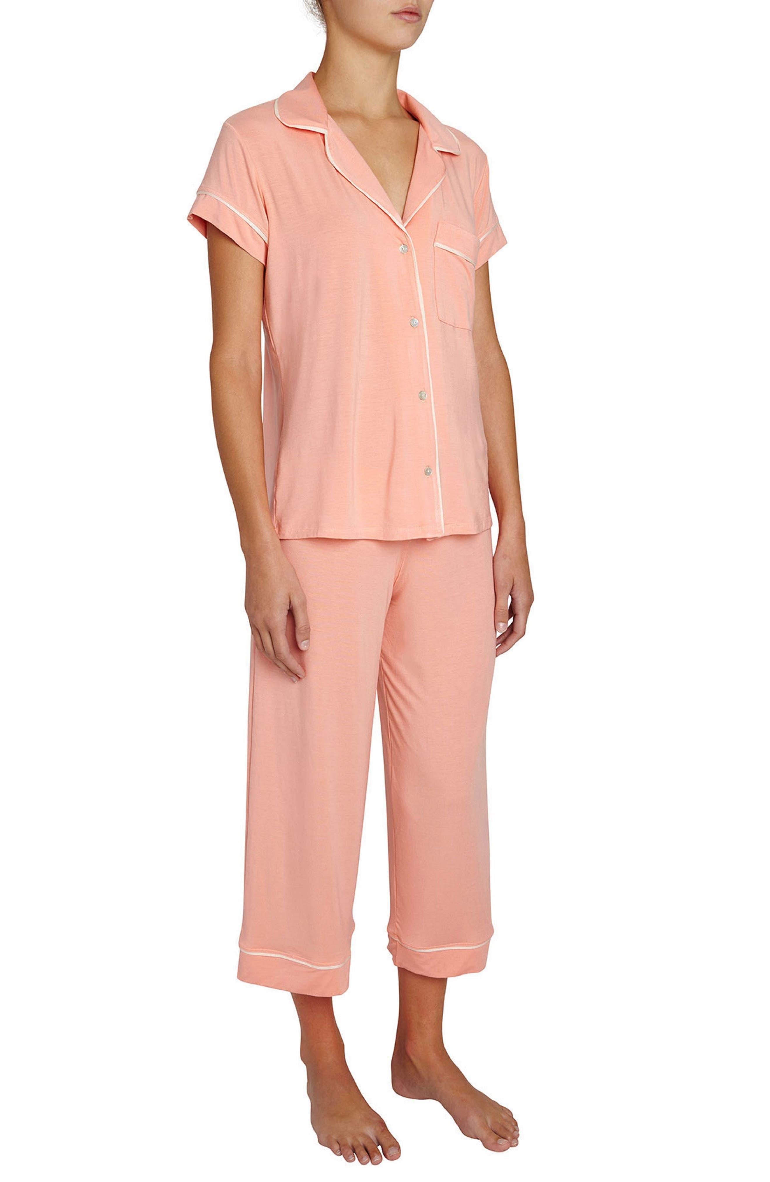 Gisele Crop Pajamas,                             Alternate thumbnail 13, color,